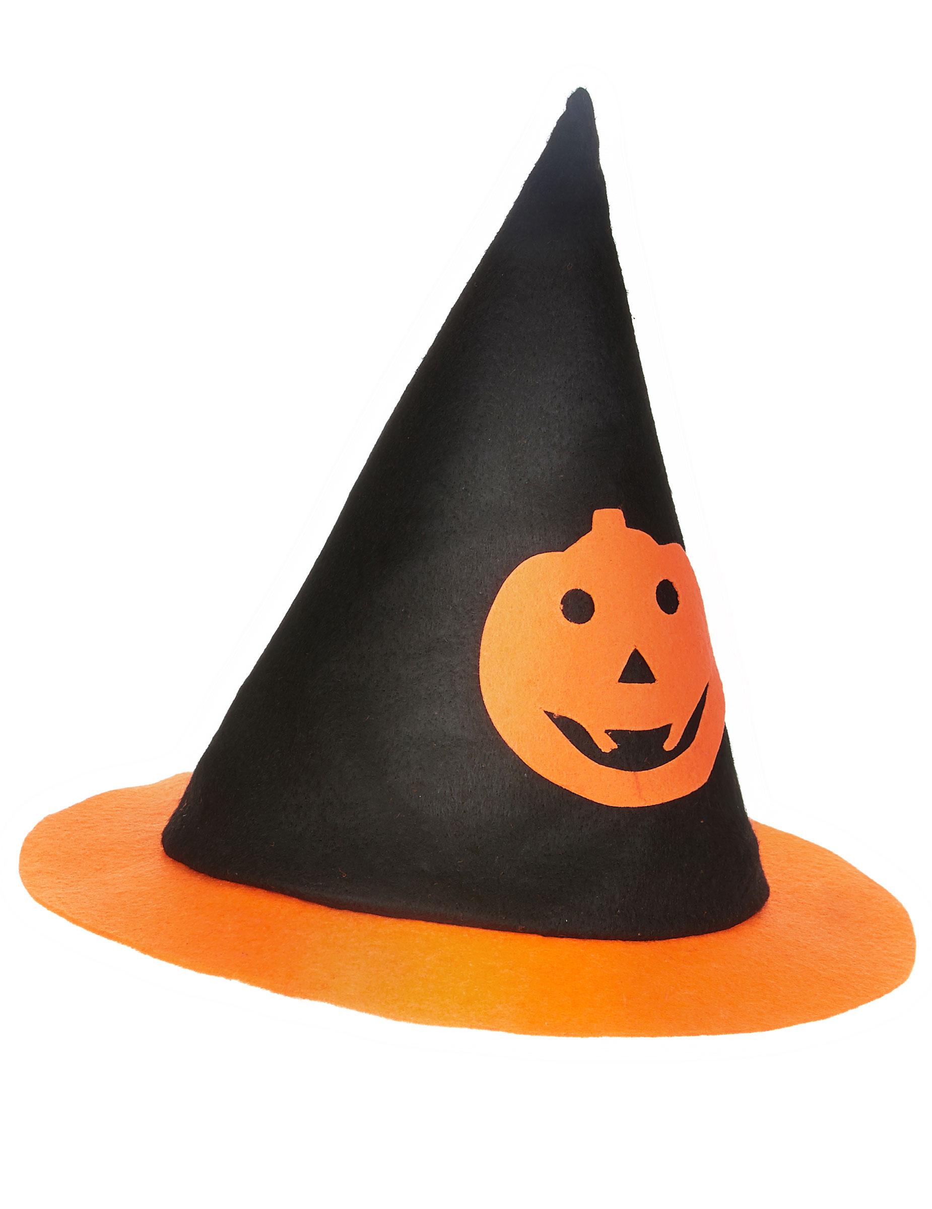 Sombrero Halloween bruja calabaza niño  Sombreros 8f7d5e2efb8