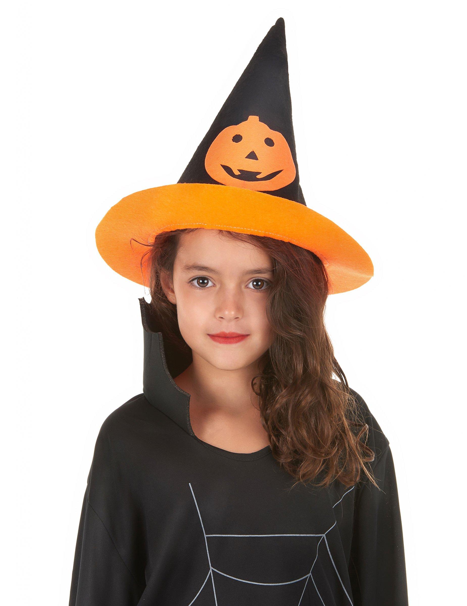 30f6829d9b6bf Sombrero Halloween bruja calabaza niño  Sombreros