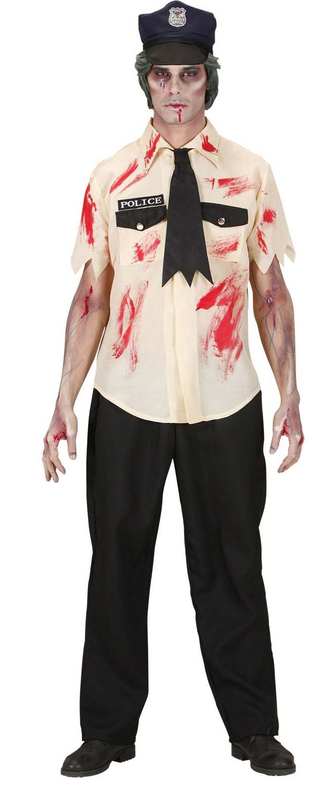 Disfraz Halloween zombie polica hombre Disfraces adultosy