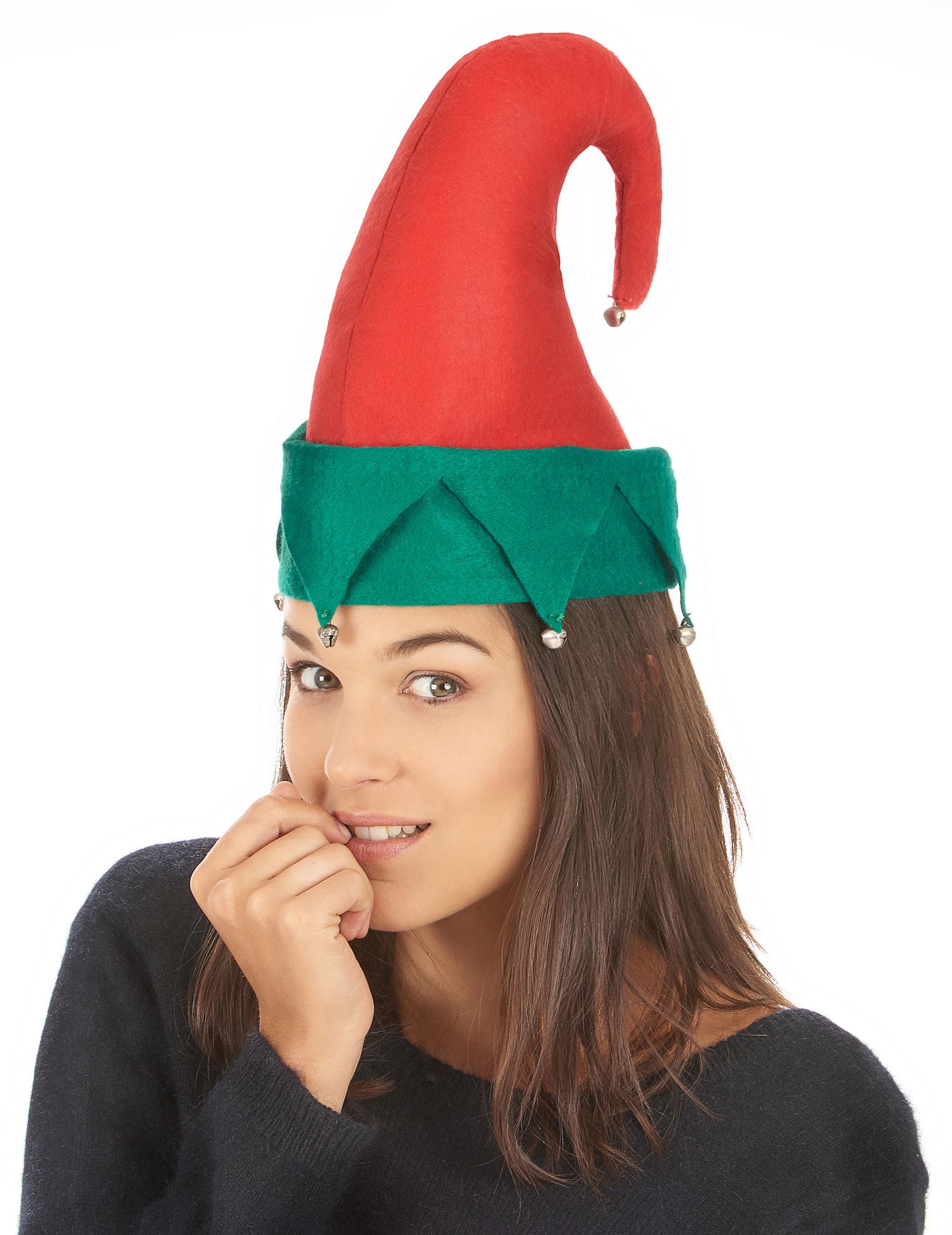 8caa6663a2f29 Gorro duende cascabeles Navidad adulto  Sombreros