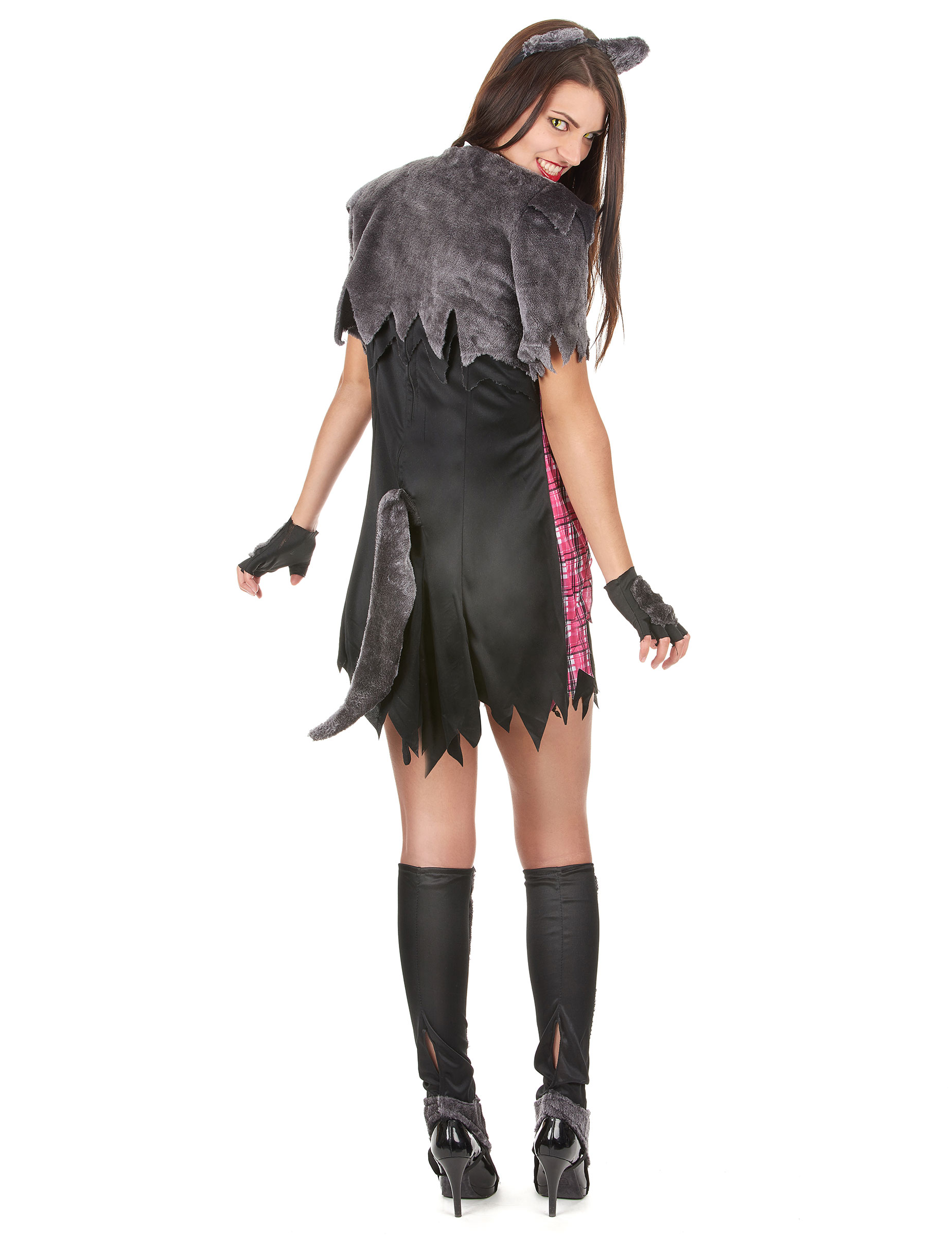 Disfraz Halloween hombre lobo sexy mujer Disfraces adultosy
