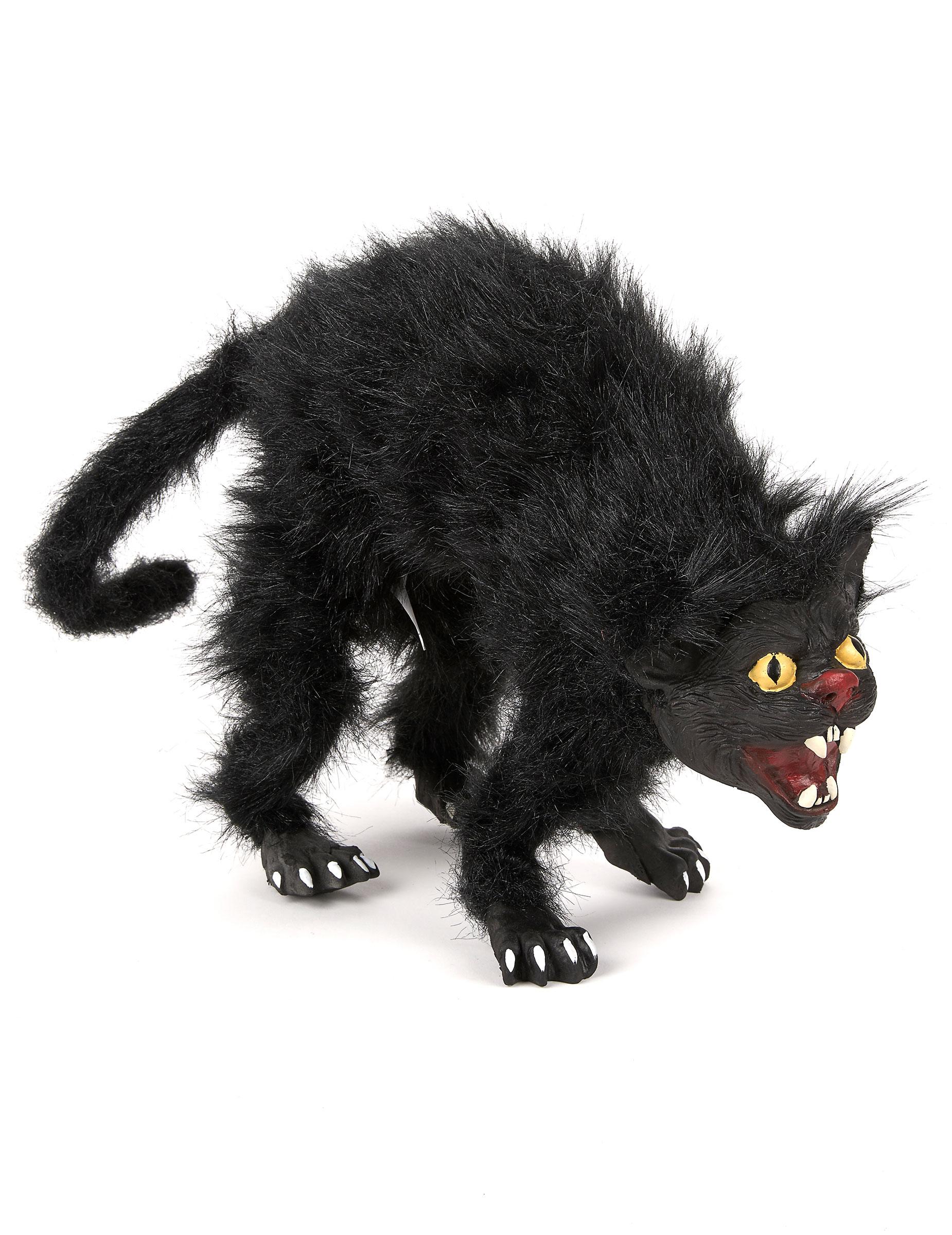 Gato negro modulable 36 cm halloween decoraci n y - El gato negro decoracion ...