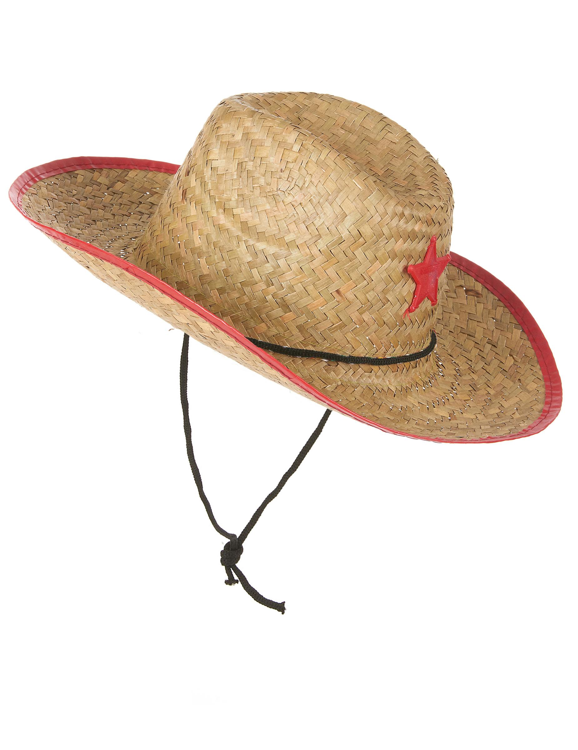 Sombrero cowboy del oeste paja niño  Sombreros ac911cf5c5d