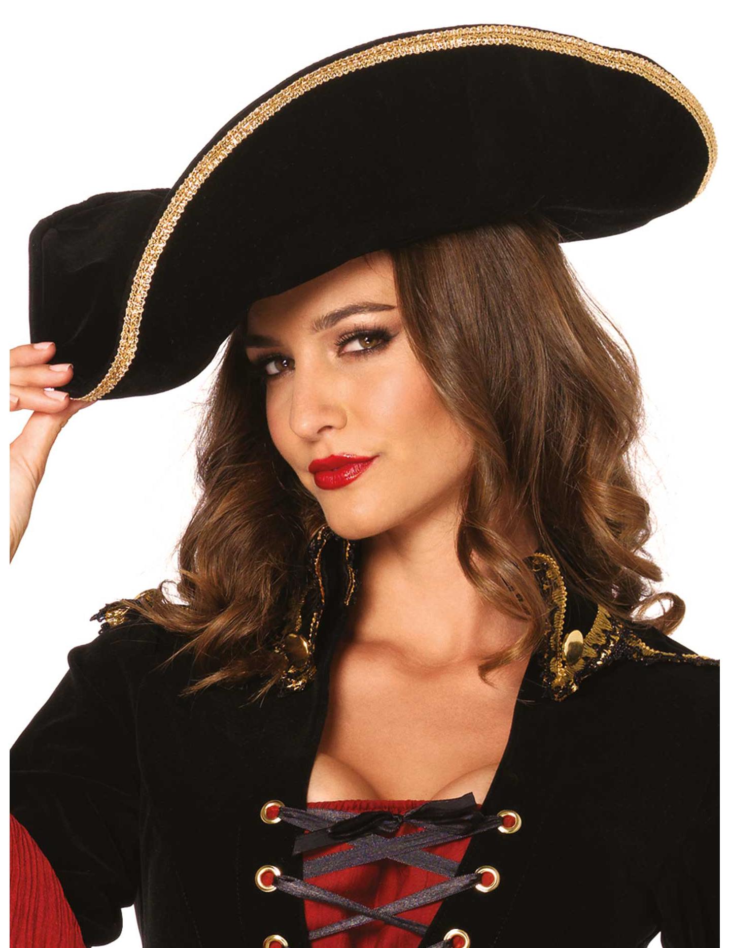 Sombrero pirata negro para adulto  Sombreros 4d2cfae66e9b