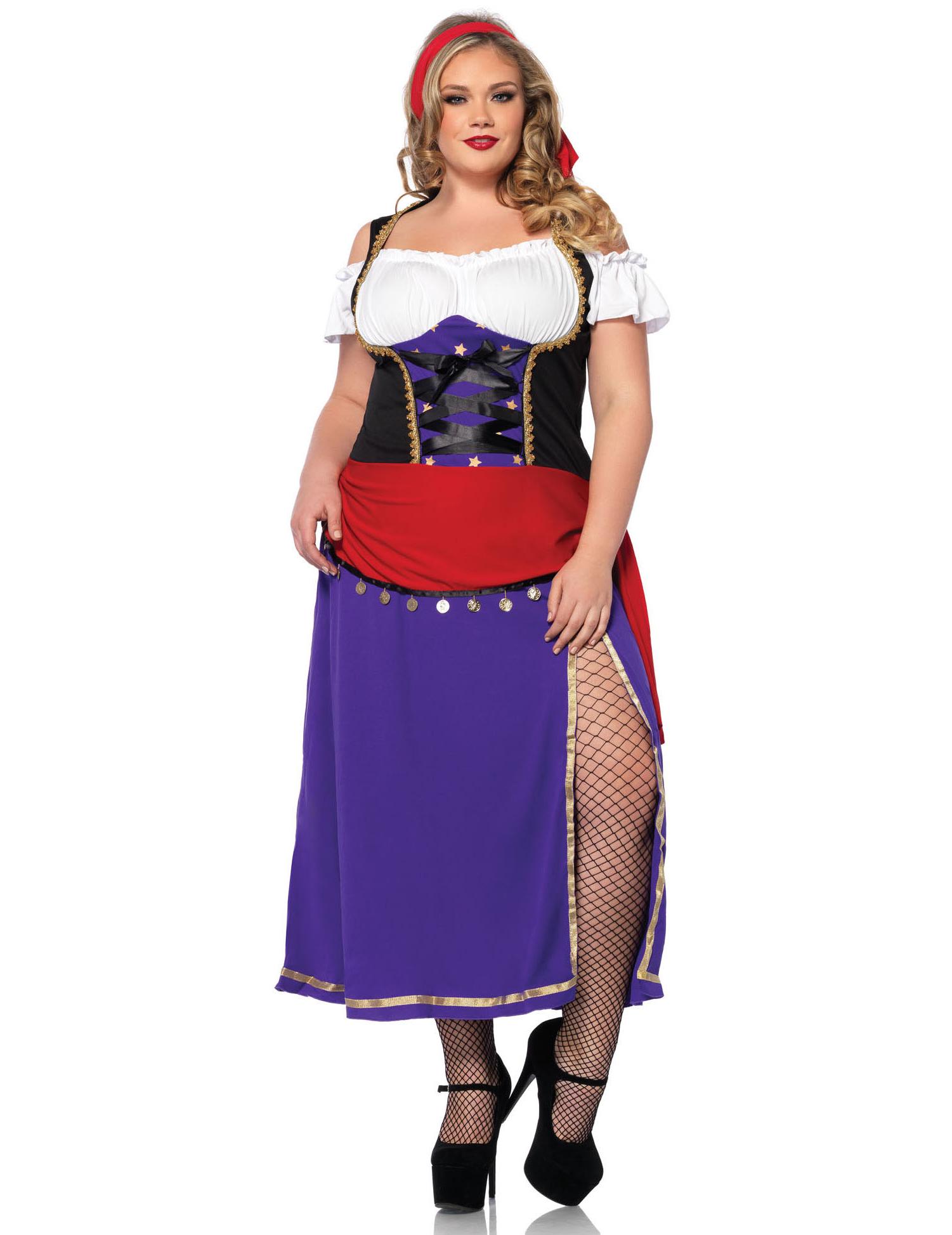 Disfraz de gitana talla grande mujer: Disfraces adultos,y disfraces ...
