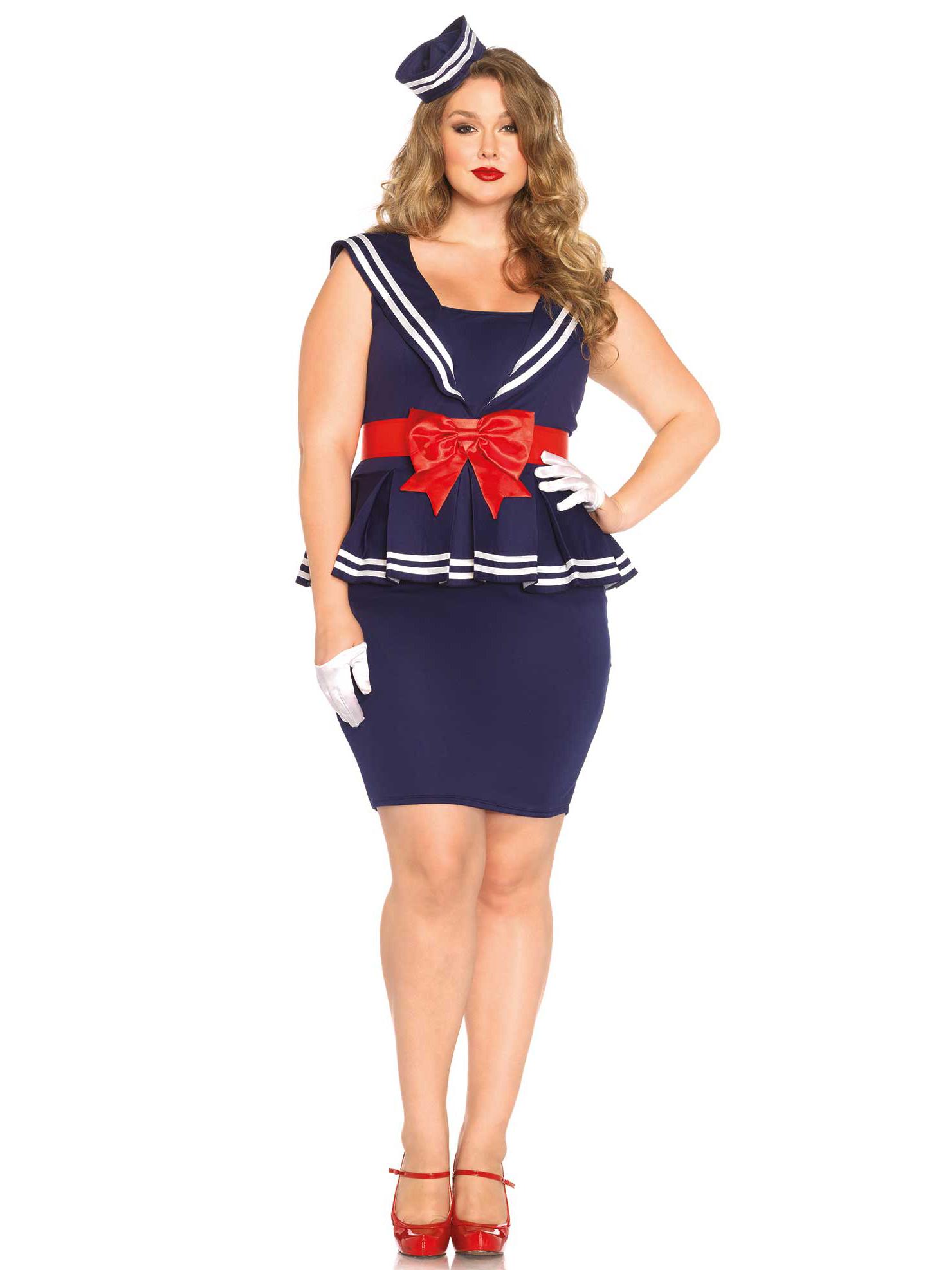 Disfraz vestido marinera mujer talla grande disfraces for Disfraces baratos