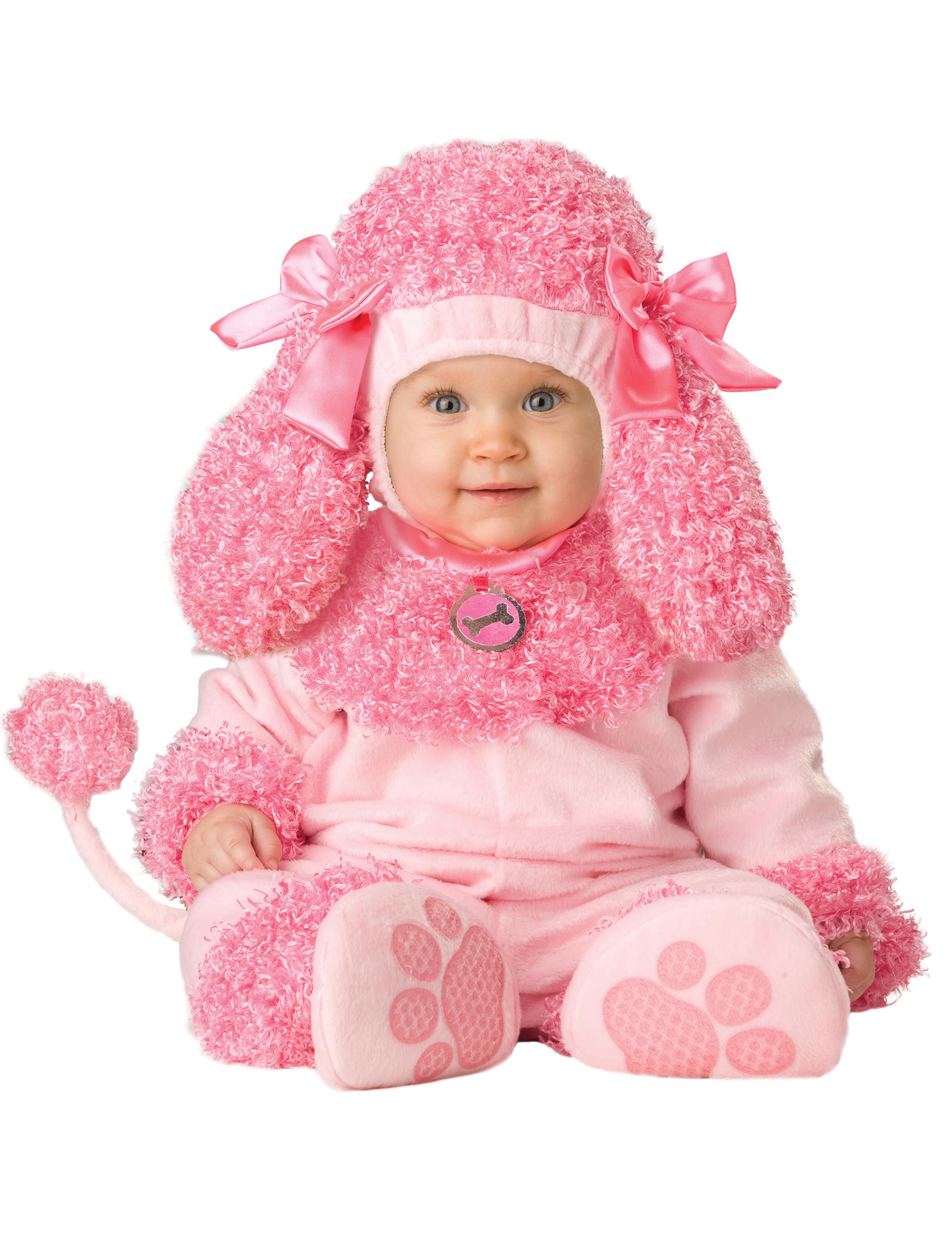 disfraz perro caniche rosa para beb premium disfraces niosy disfraces originales baratos vegaoo
