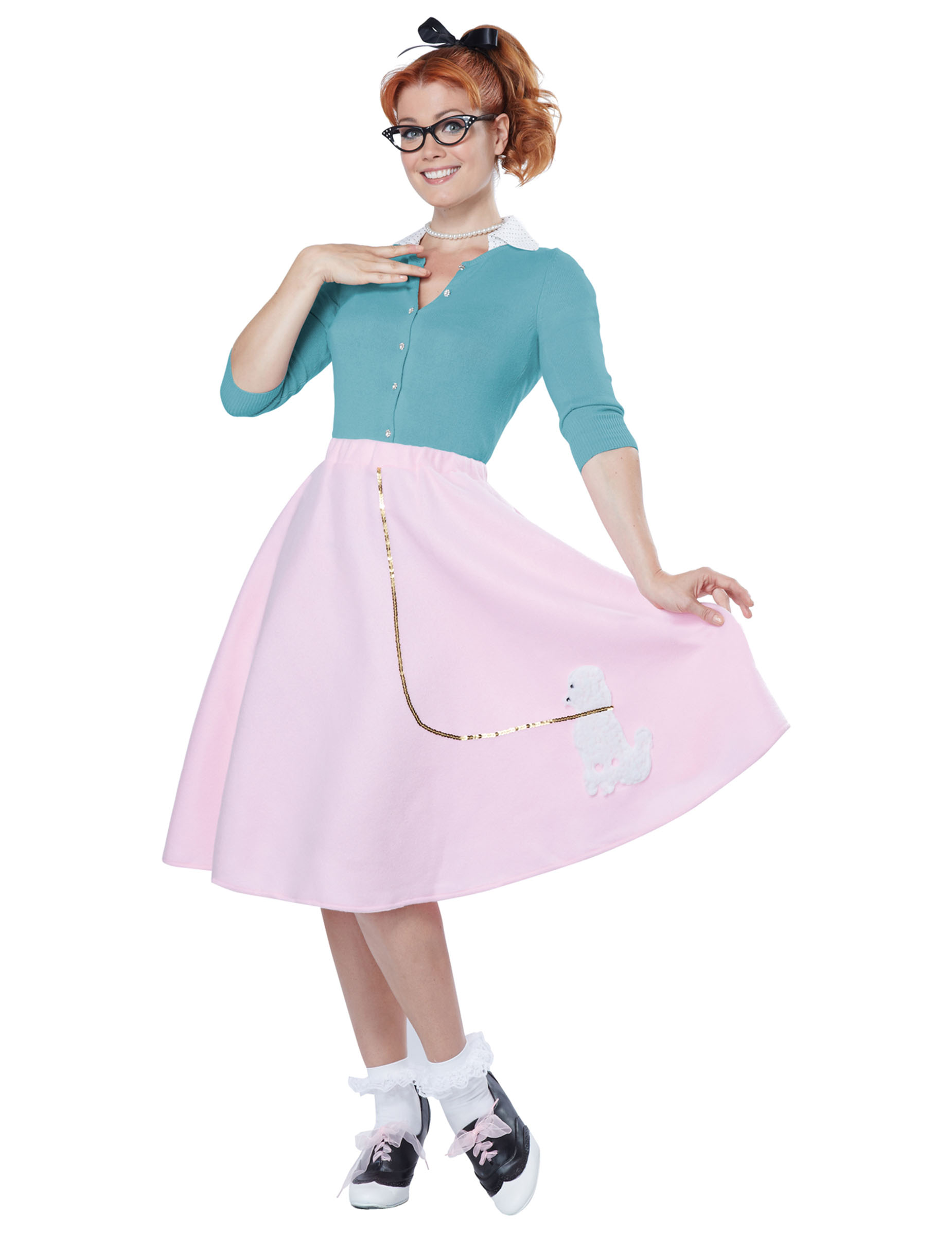 Disfraz años 50 mujer rosa  Disfraces adultos 4339a8f9f49