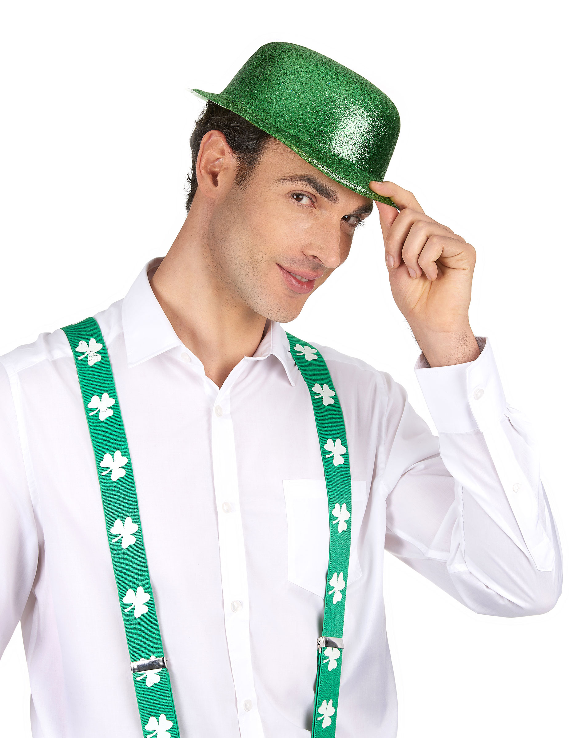 Sombrero melón verde brillante San Patricio  Sombreros 44eabb8e255