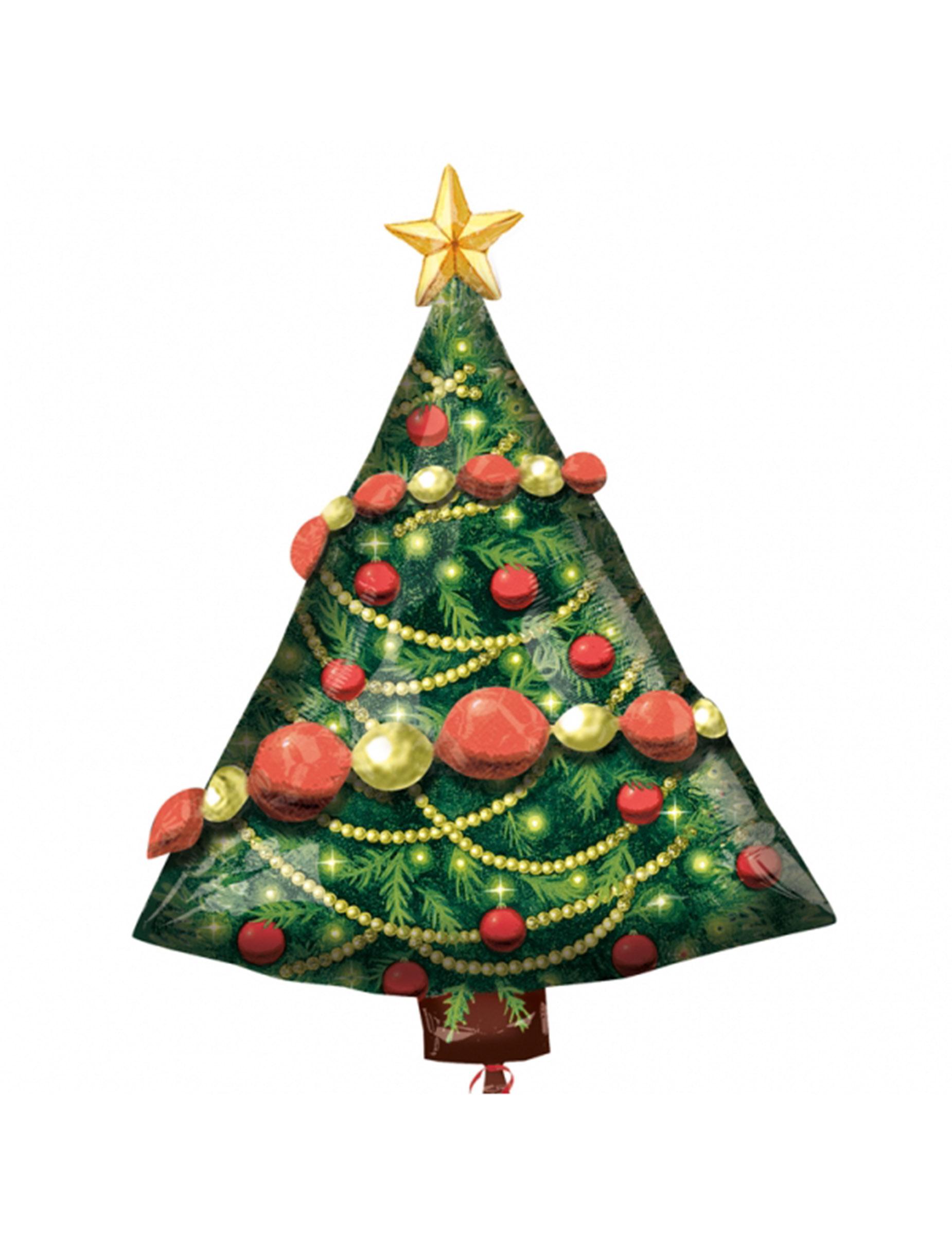 Globo alumino rbol de navidad 81x61 cm decoraci n y for Cesta arbol navidad