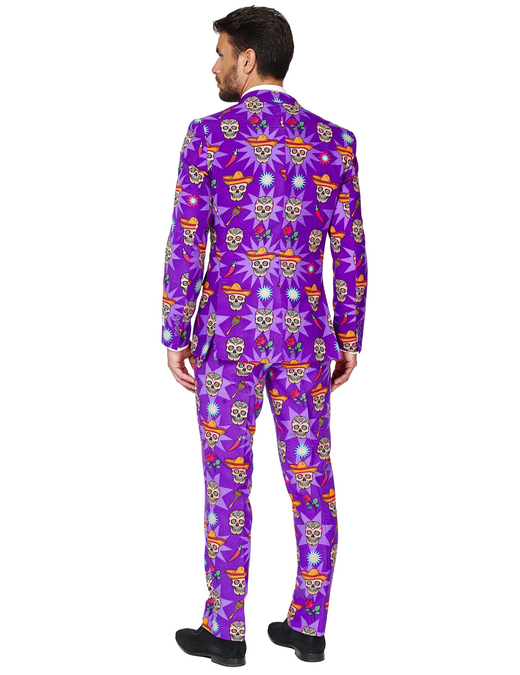 Traje Día de los Muertos Opposuits™ hombre: Disfraces adultos,y ...