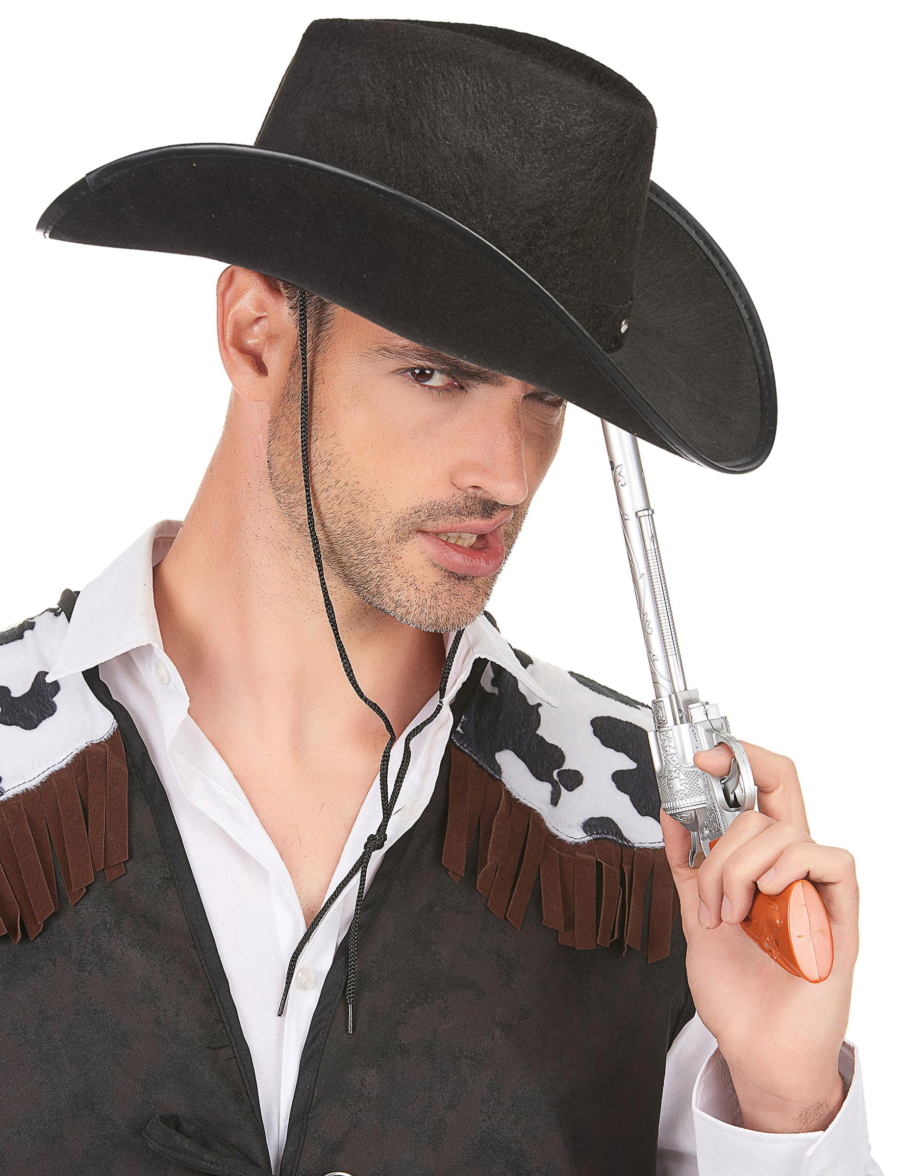 Sombrero vaquero negro para adulto  Sombreros 1cbb44a2c1c