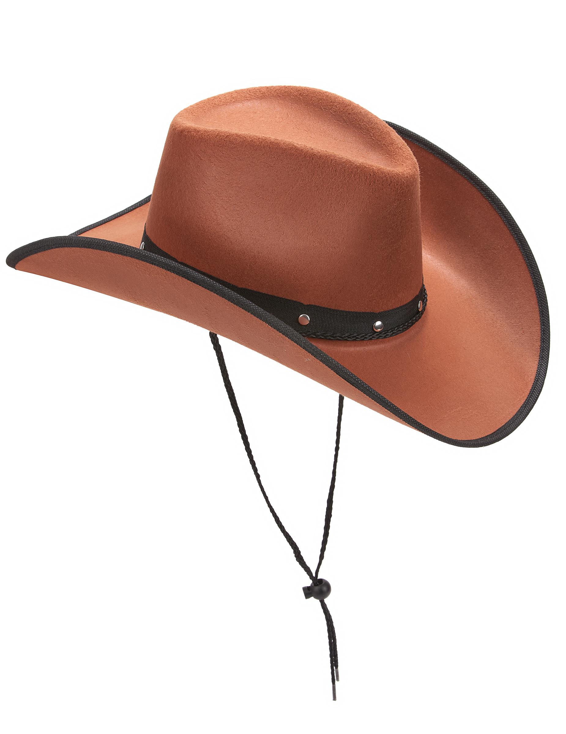 Sombrero de vaquero marrón para adulto  Sombreros cd040f1b295