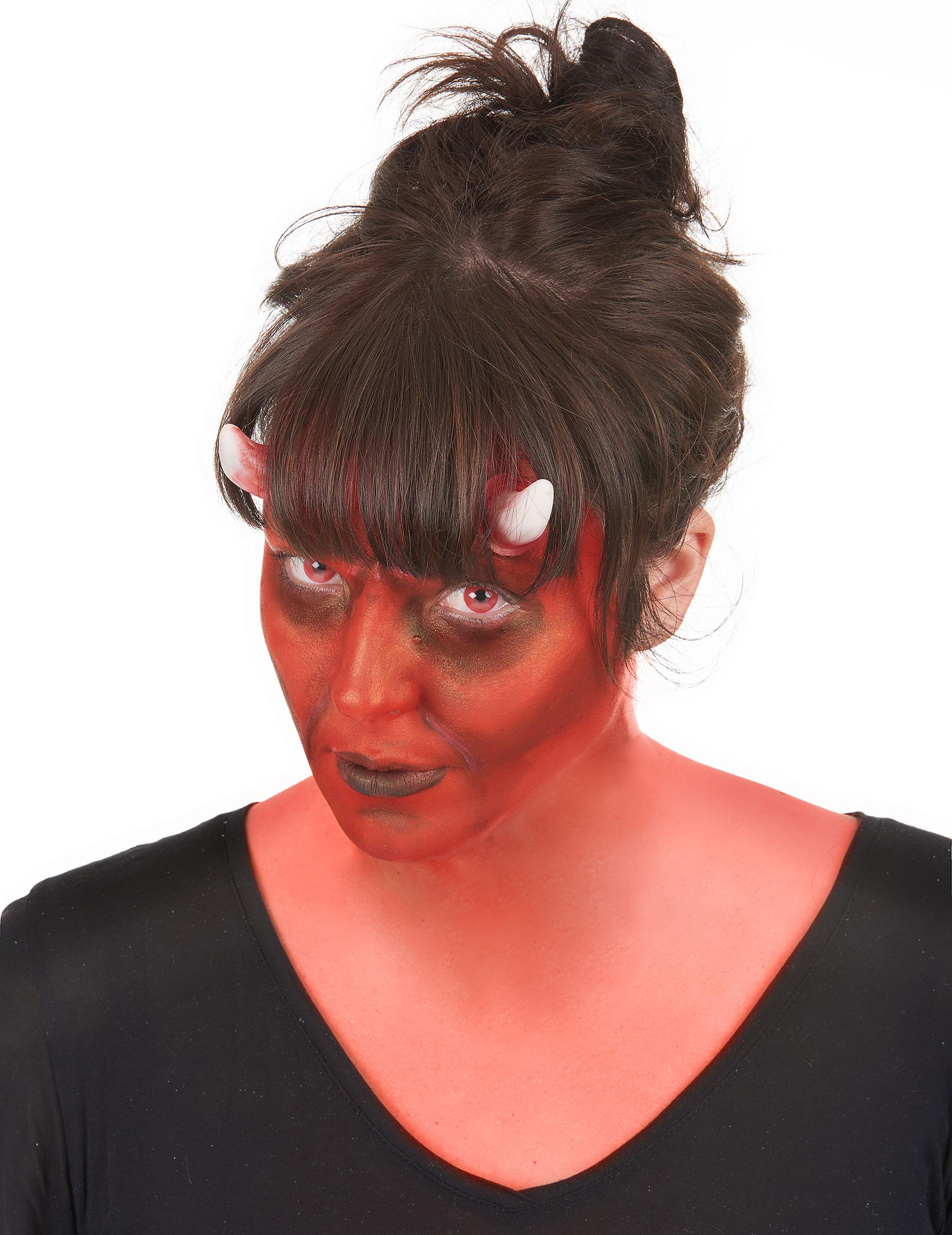 kit maquillaje lentillas fantasa demonio adulto halloween - Maquillaje Demonio