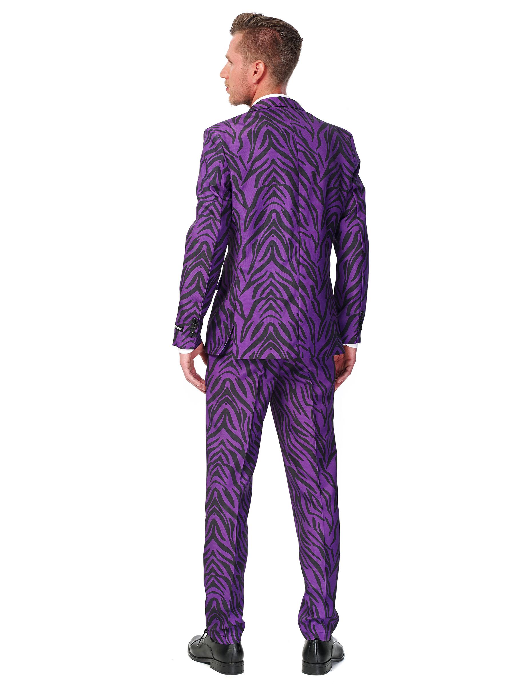 Traje tigre violeta hombre Suitmeister™: Disfraces adultos,y ...