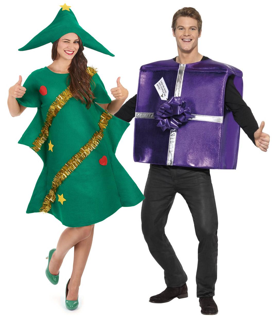 Disfraz pareja rbol de navidad regalo violeta navidad - Disfraces de navidad originales ...