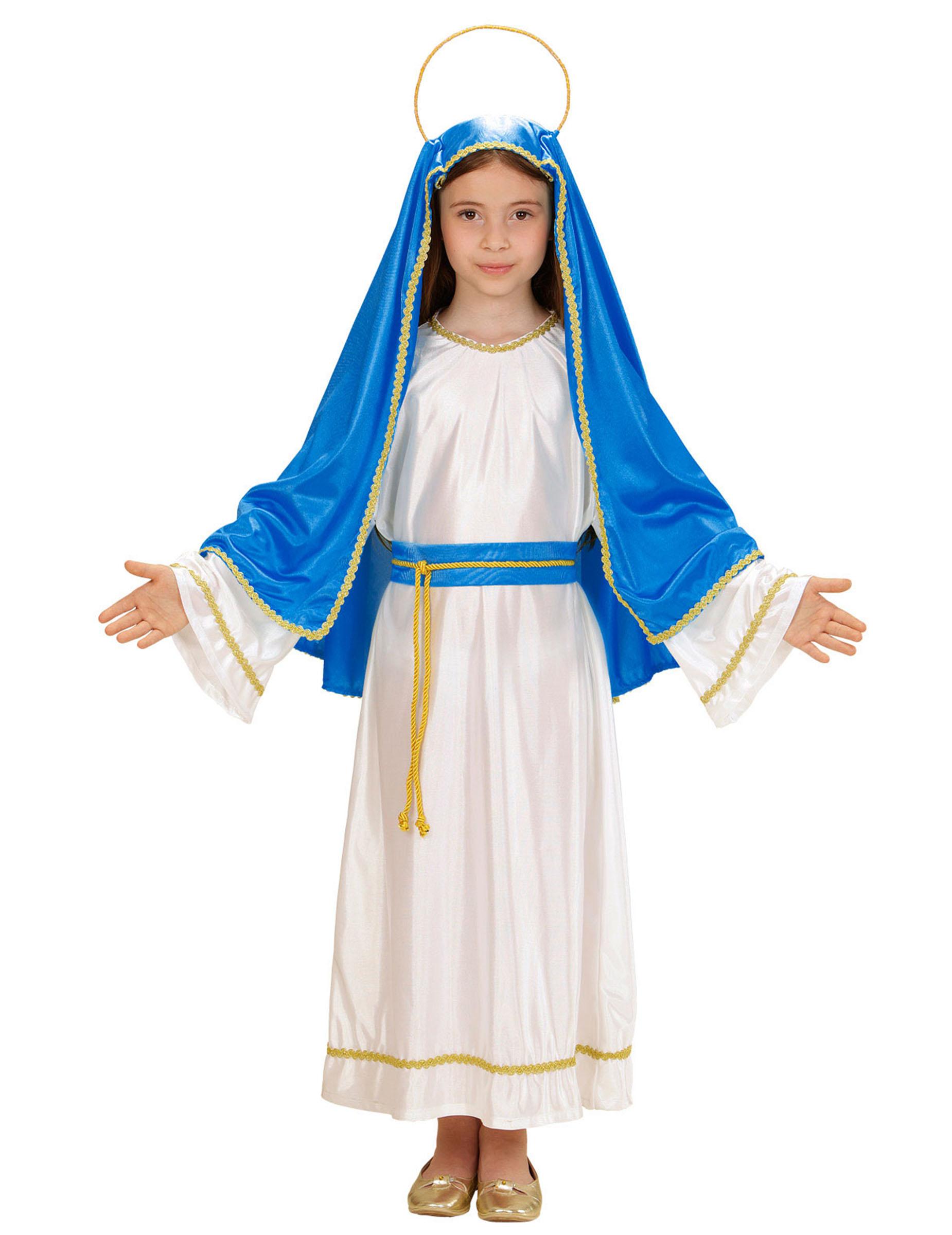 Disfraz Virgen Mara nia Navidad Disfraces niosy disfraces