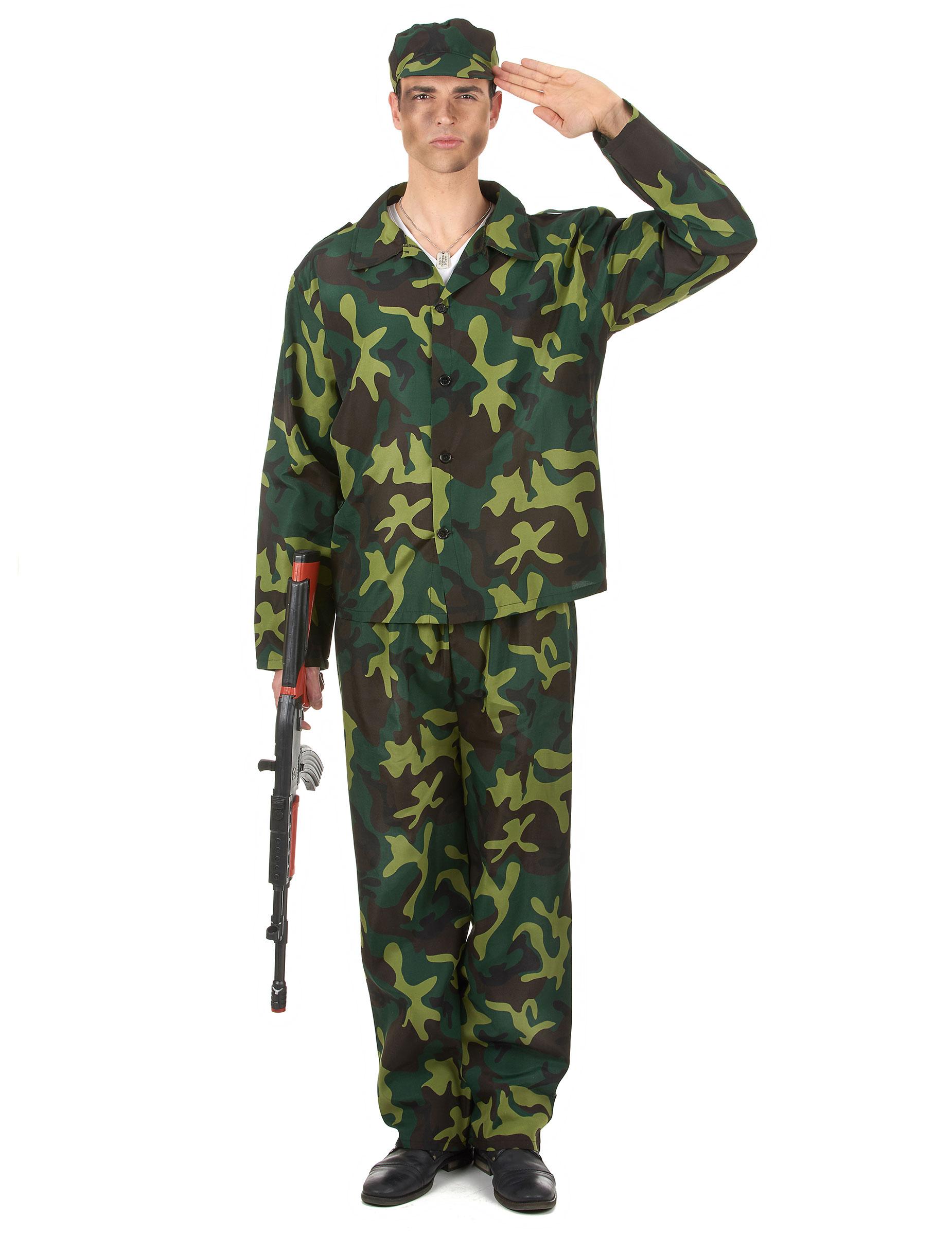 Disfraz de soldado hombre: Disfraces adultos,y disfraces ...