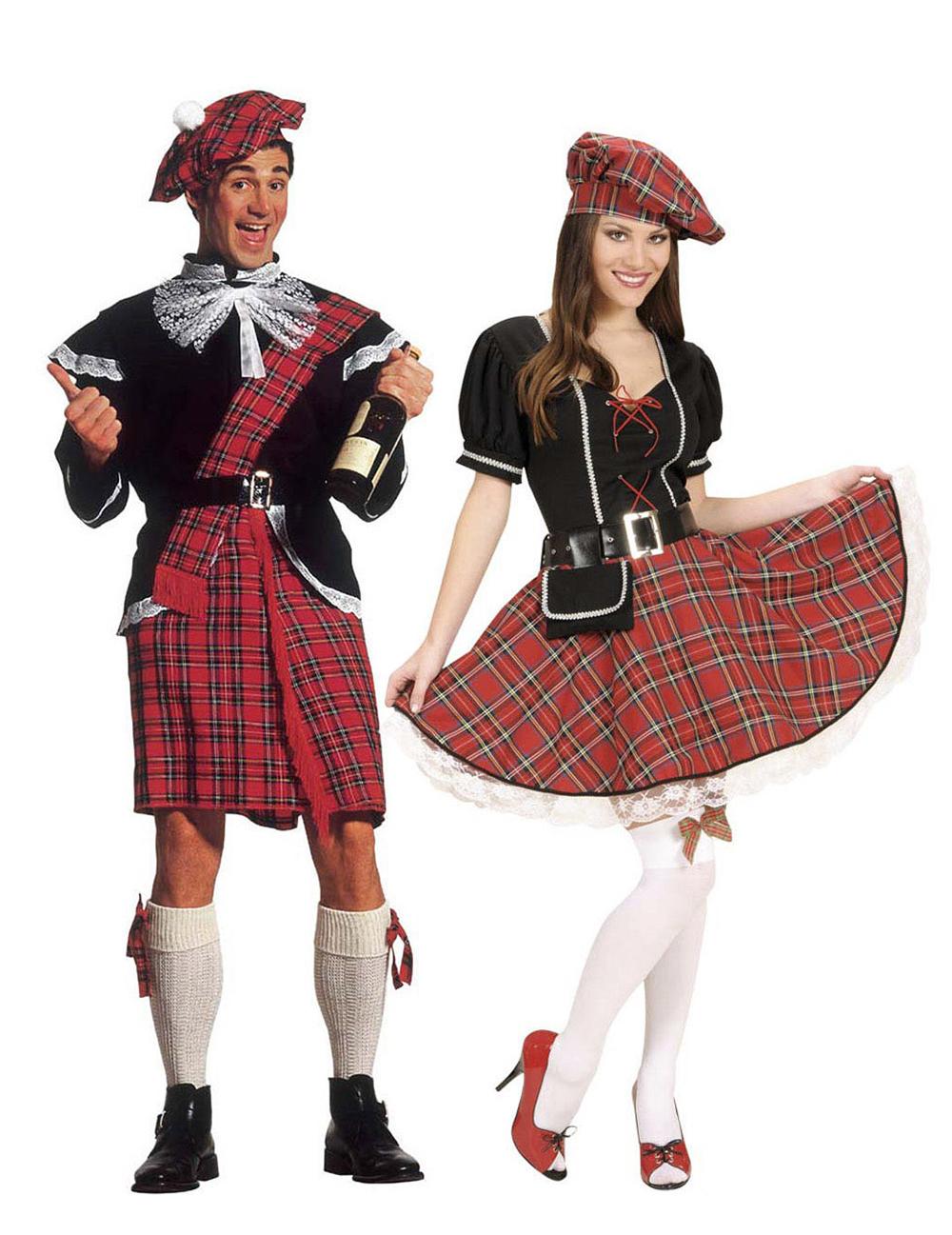 Disfraz de pareja escocesa para adulto disfraces parejas for Disfraces parejas adultos