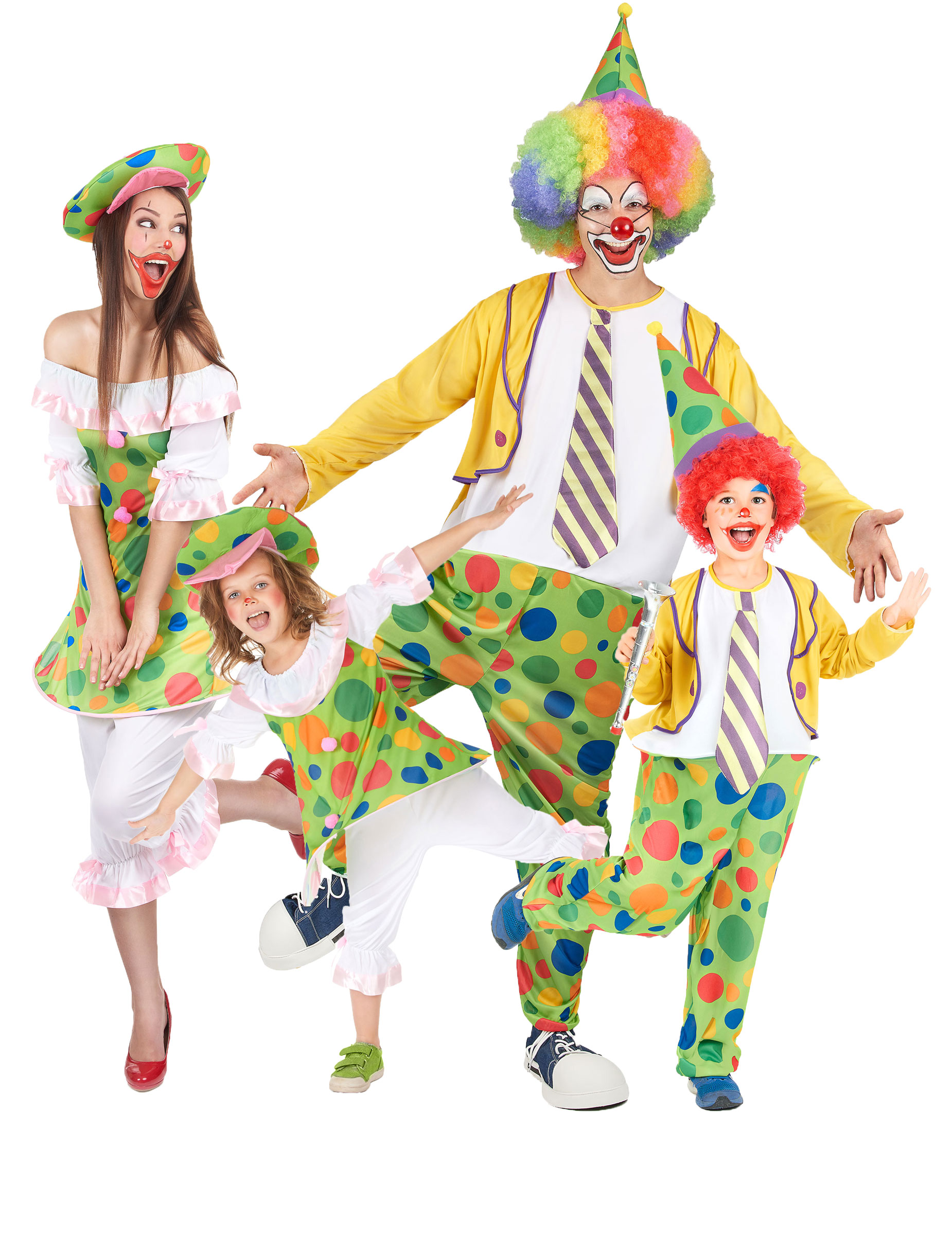 disfraz de familia payasos