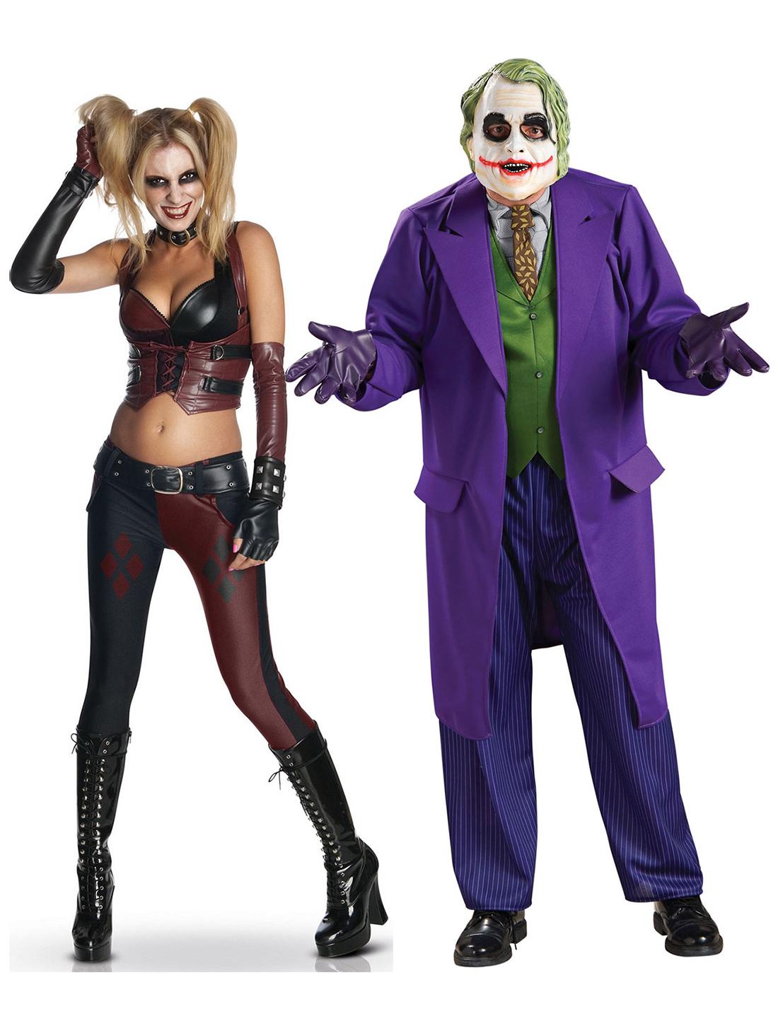 Disfraz de pareja Harley Quinn y Joker: Disfraces parejas,y disfraces originales baratos - Vegaoo