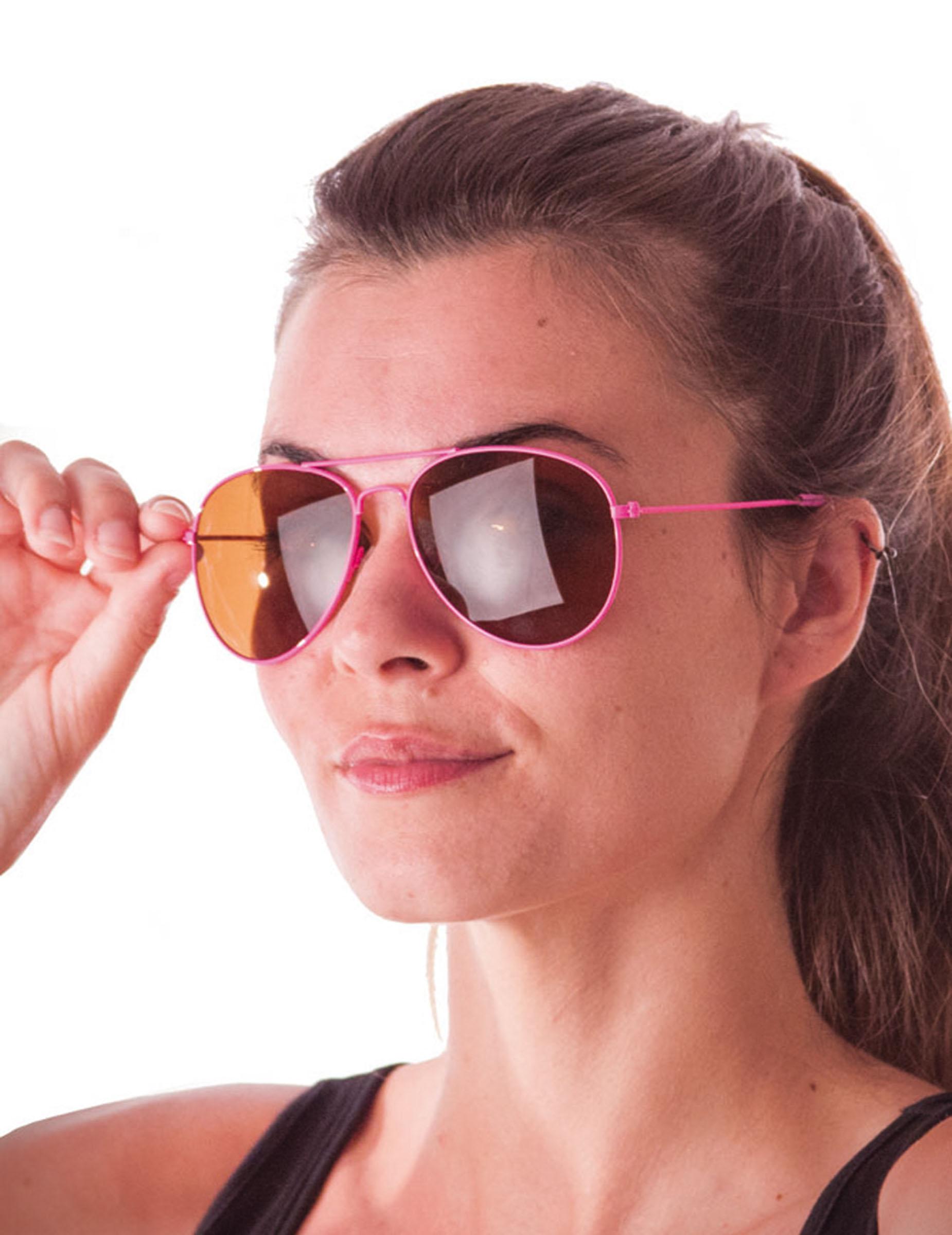 556755fcb8 Gafas aviador rosa fluorececente adulto: Accesorios,y disfraces ...