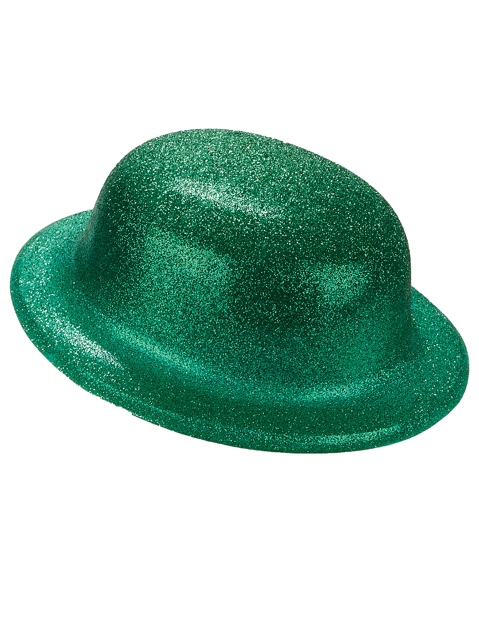 721813c900bf4 Sombrero bombín verde purpurina adulto  Sombreros