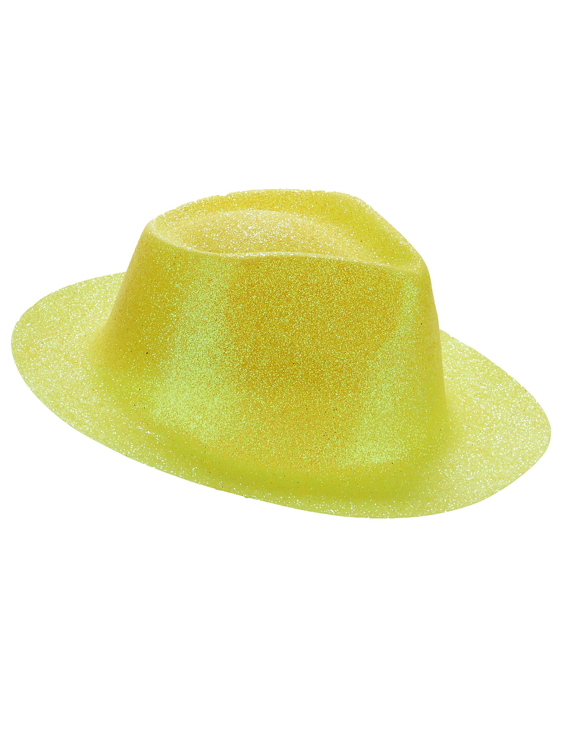 Sombrero purpurina amarilla adulto  Sombreros b34081ac89b