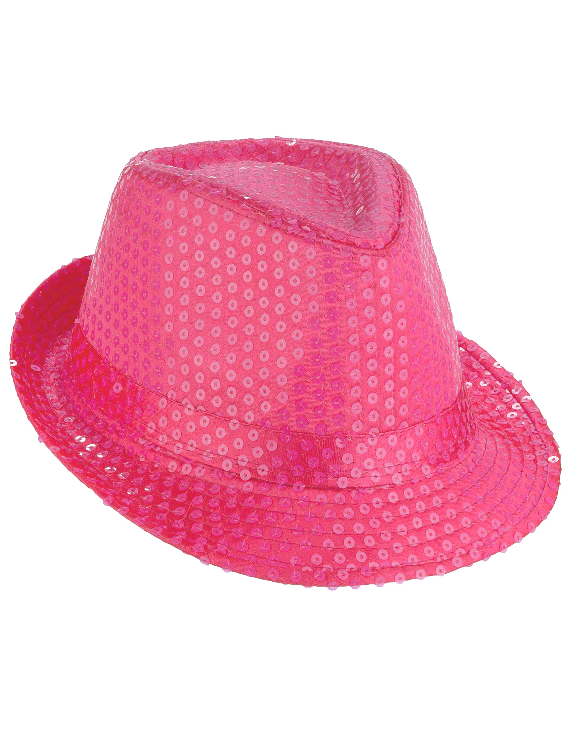 Sombrero borsalino lentejuelas rosa fluorescente adulto  Sombreros 789d7def95b