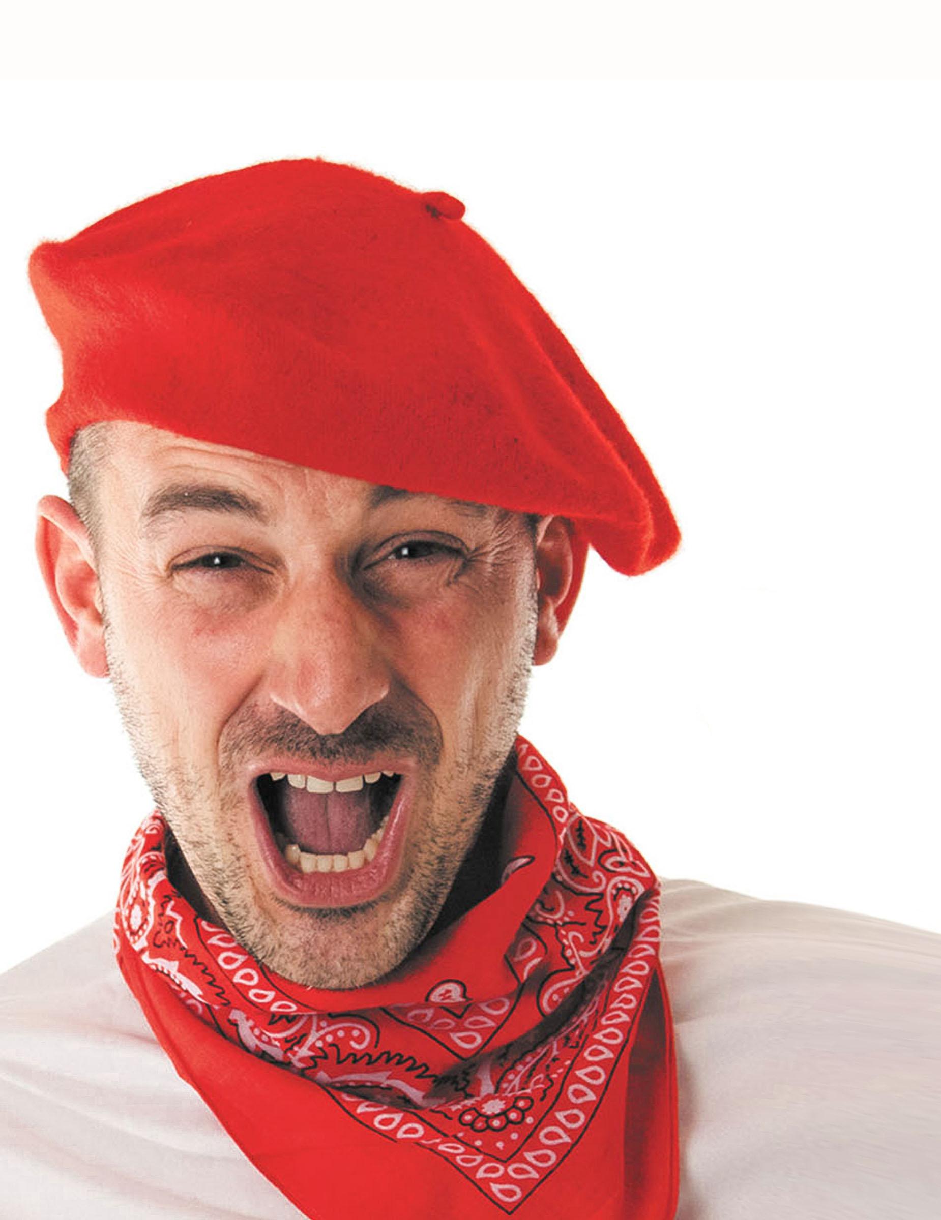 Boina vasca rojo adulto  Sombreros 294428128ae