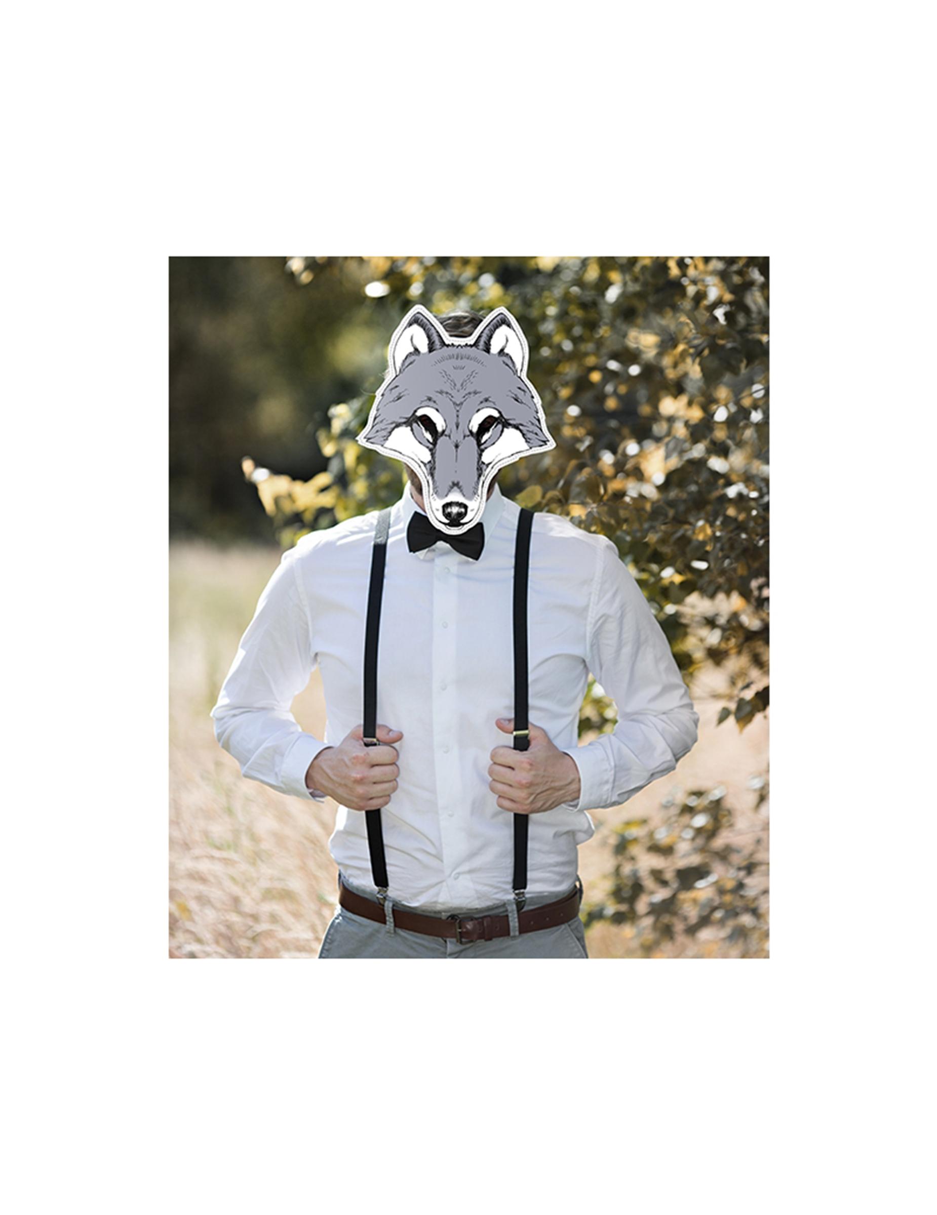 52534ca9eda Máscara lobo papel  Máscaras