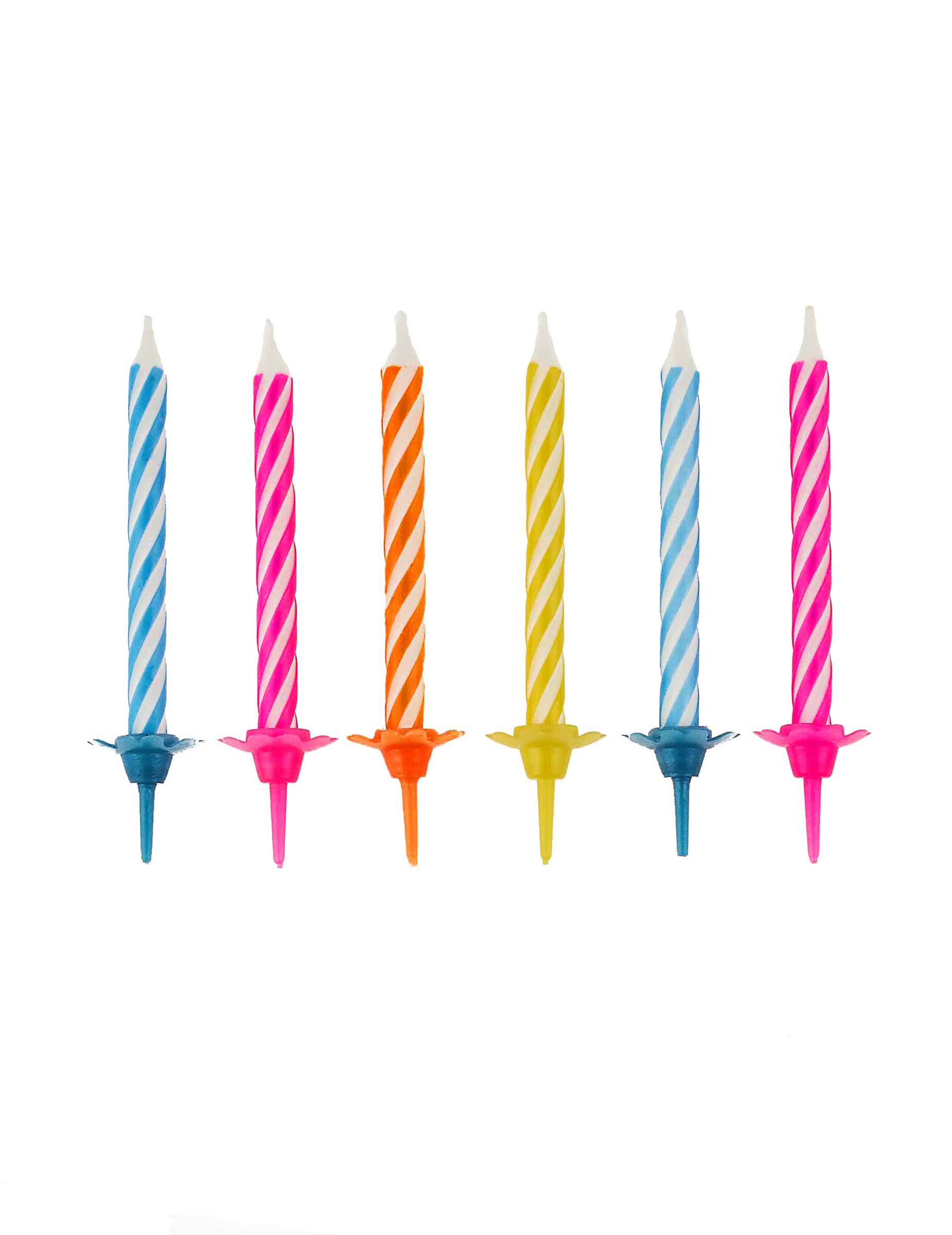 10 velas cumplea os multicolores con soporte decoraci n y - Soportes para velas ...