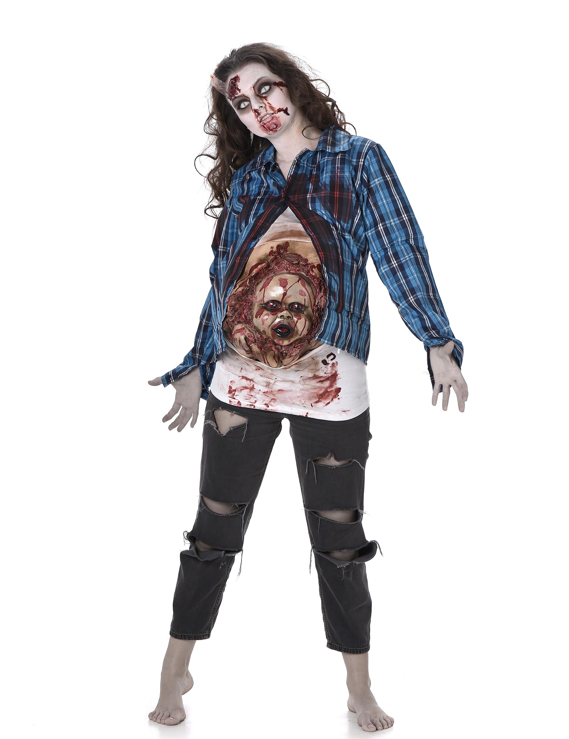 disfraz de zombie beb de ltex mujer halloween