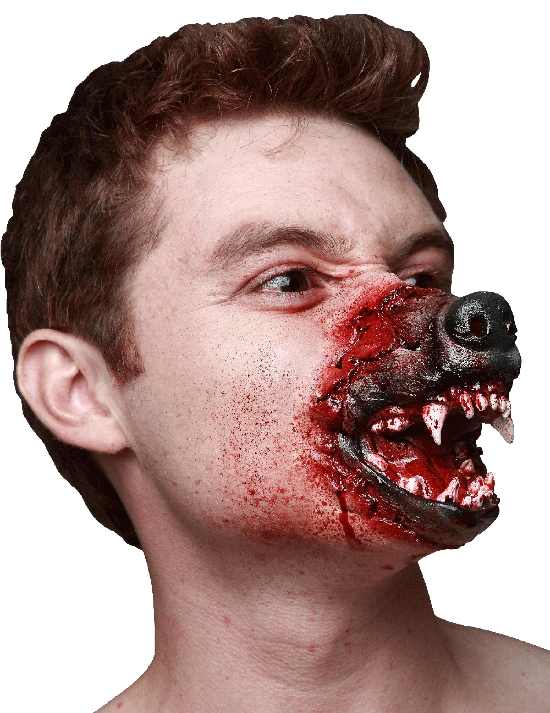 Hocico hombre lobo adulto halloween maquillaje y disfraces originales baratos vegaoo - Maquillage latex halloween ...