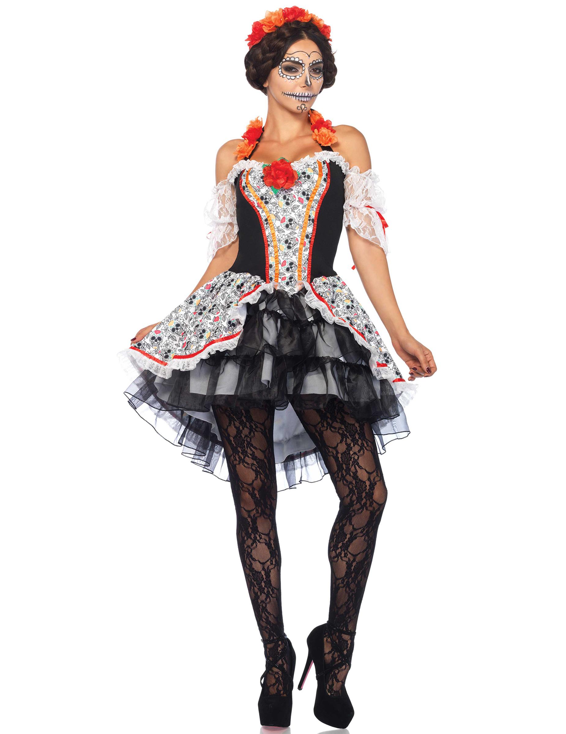 Disfraz calavera Día de los muertos mujer Halloween 158916b69f5