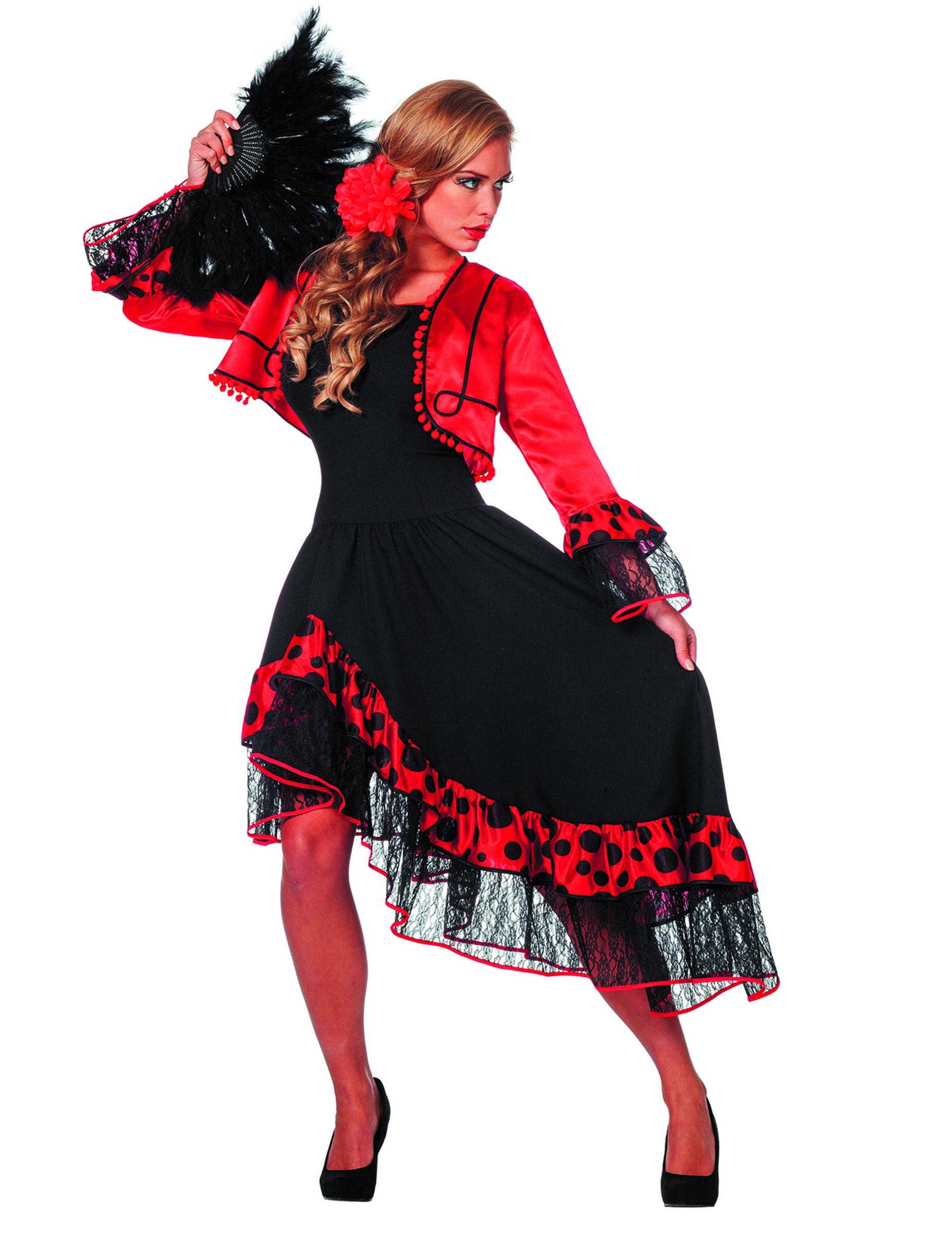 6e13f2449 Disfraz de bailarina española deluxe mujer  Disfraces adultos