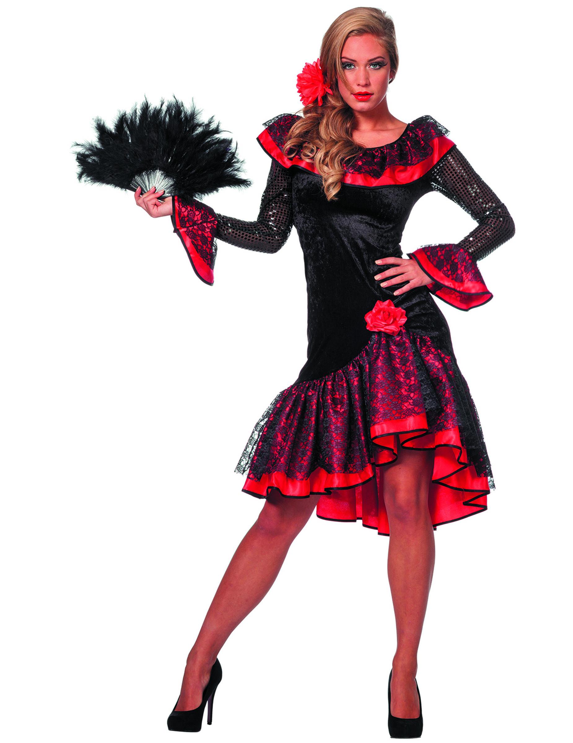 4d8923879 Disfraz de bailarina española negro mujer  Disfraces adultos
