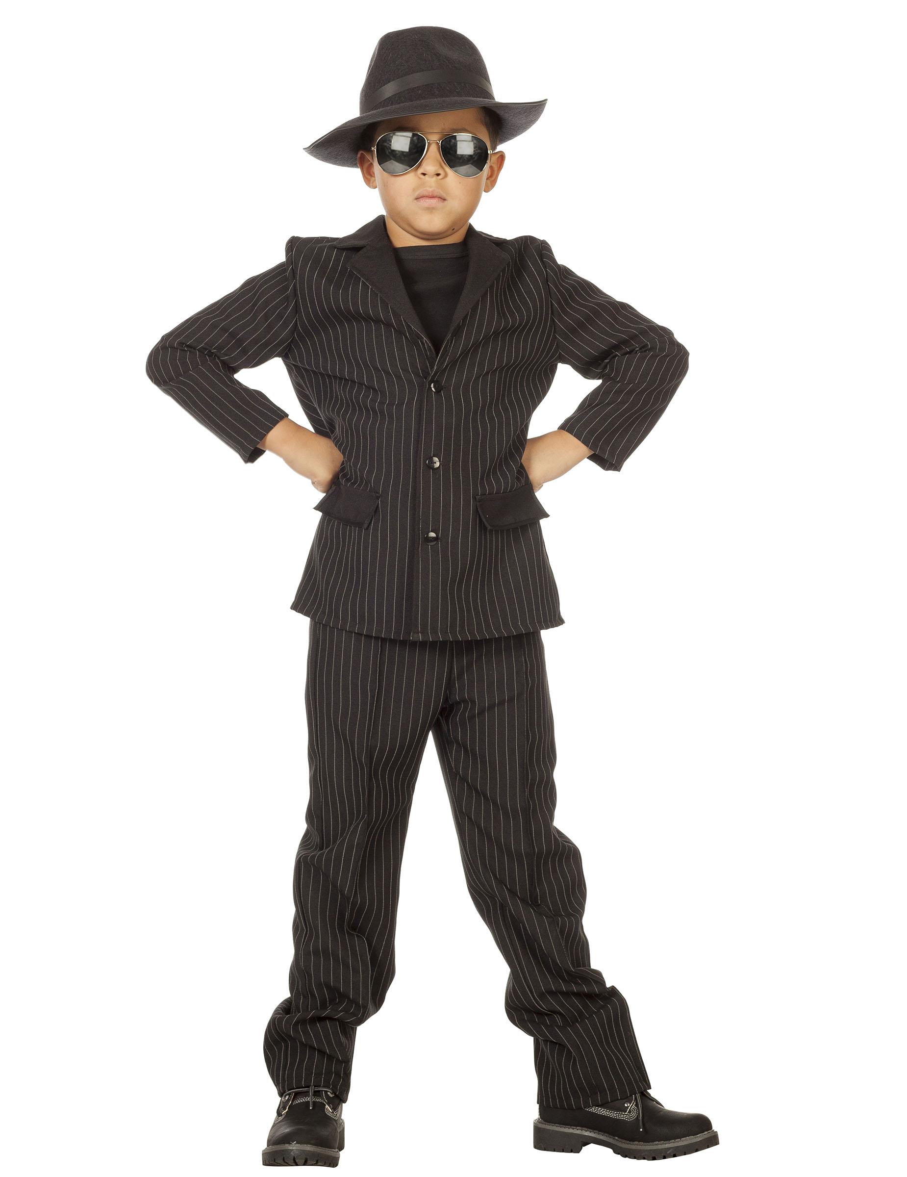 51fb1d2ab Disfraz de gánster negro niño  Disfraces niños