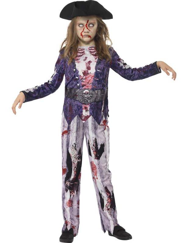 disfraz zombie pirata nia halloween