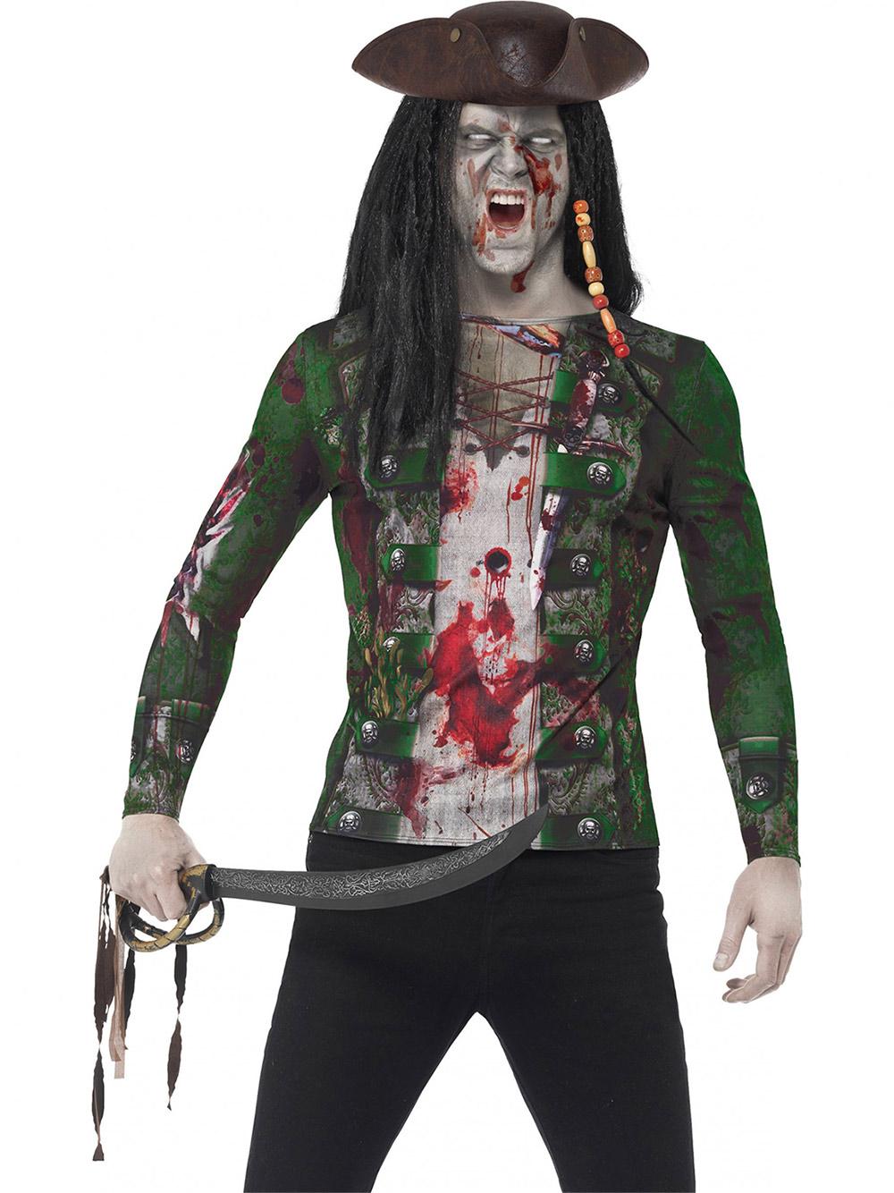 Disfraz De Pirata Zombie Hombre Adulto Disfraces Adultosy - Maquillaje-zombie-hombre
