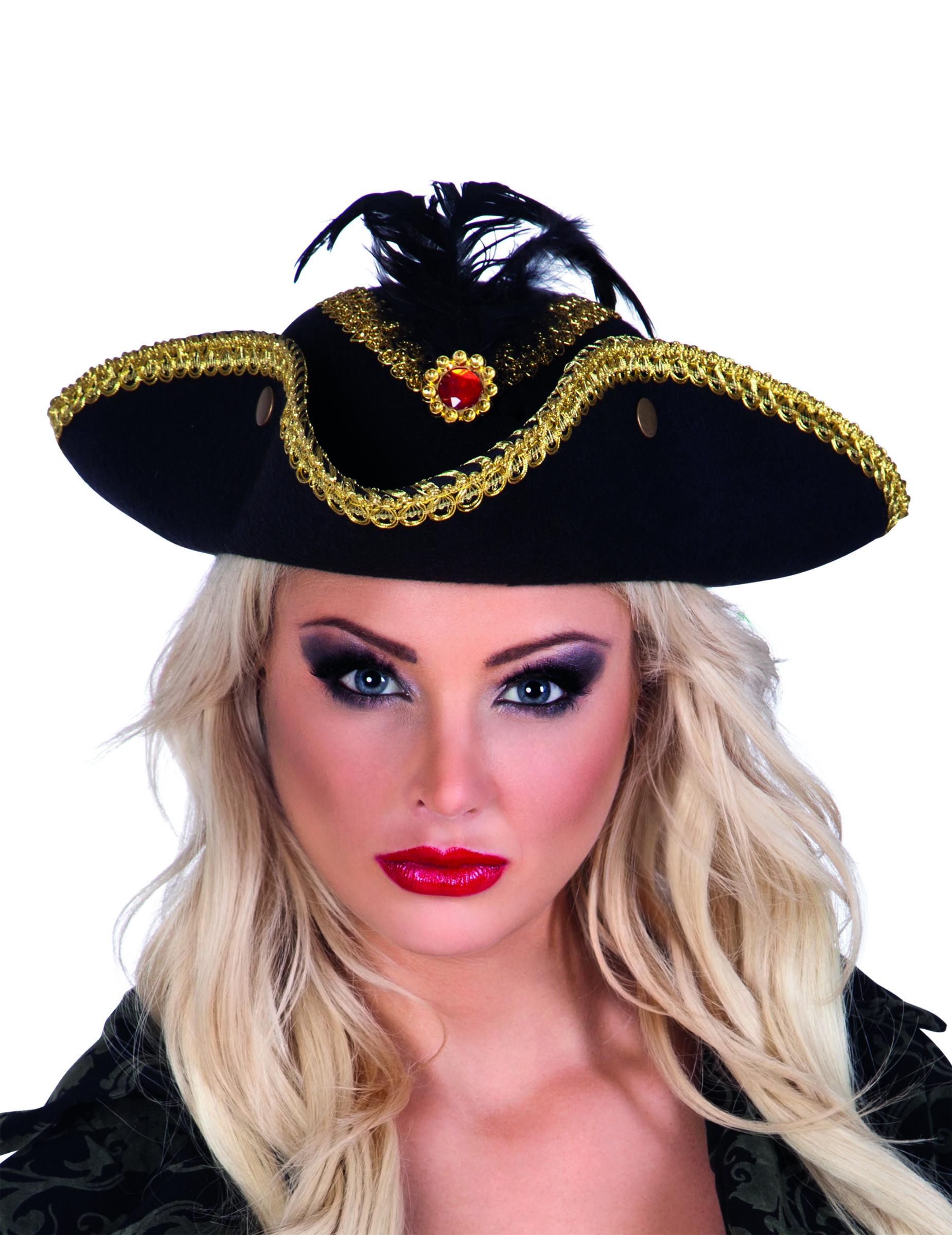 super calidad pulcro muchos de moda Sombrero tricornio pirata mujer: Sombreros,y disfraces originales ...
