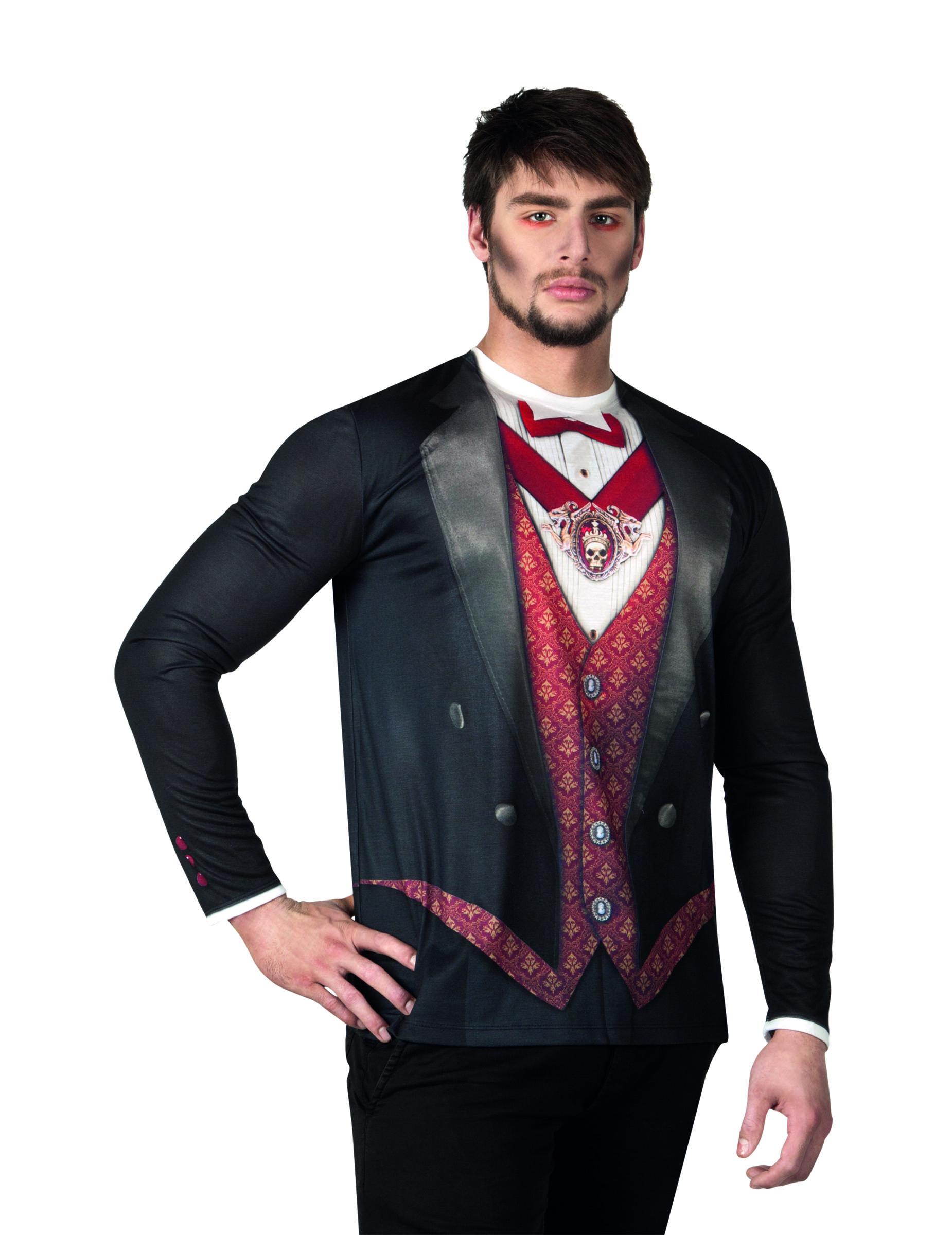 Camiseta de vampiro hombre Halloween Disfraces adultosy disfraces