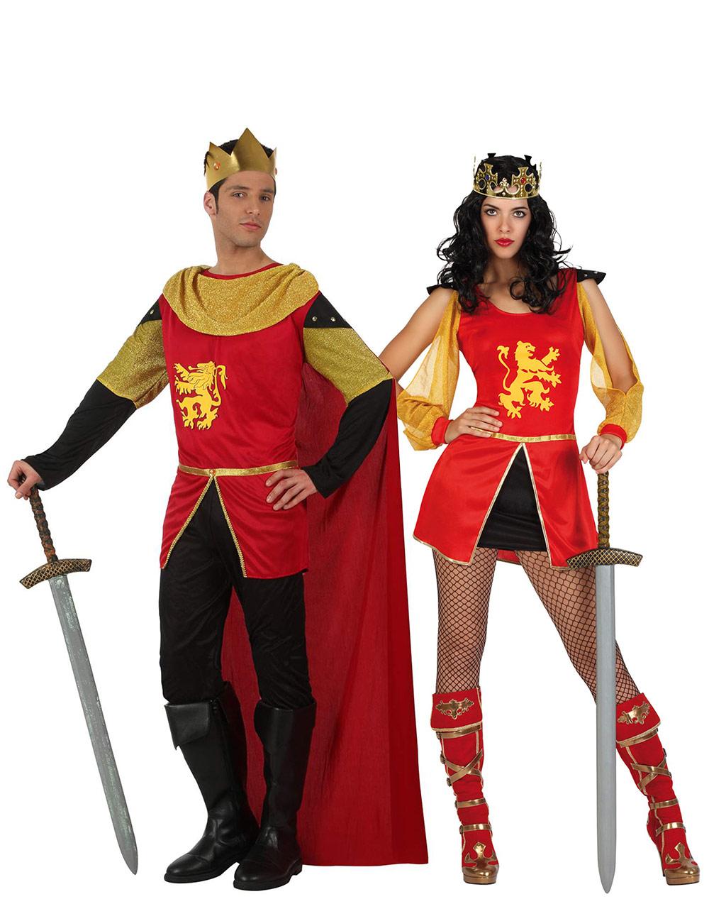Disfraz de pareja caballero medieval adulto disfraces for Disfraces parejas adultos