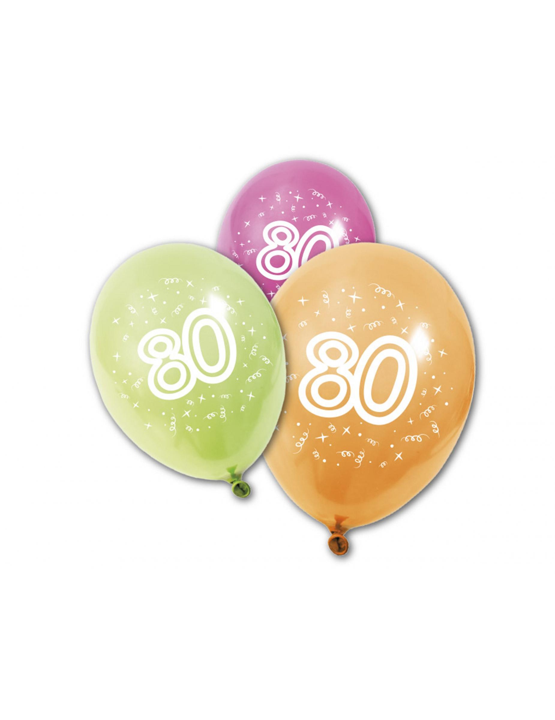8 Globos De Cumpleanos 80 Anos Decoraciony Disfraces Originales - Globos-cumpleanos