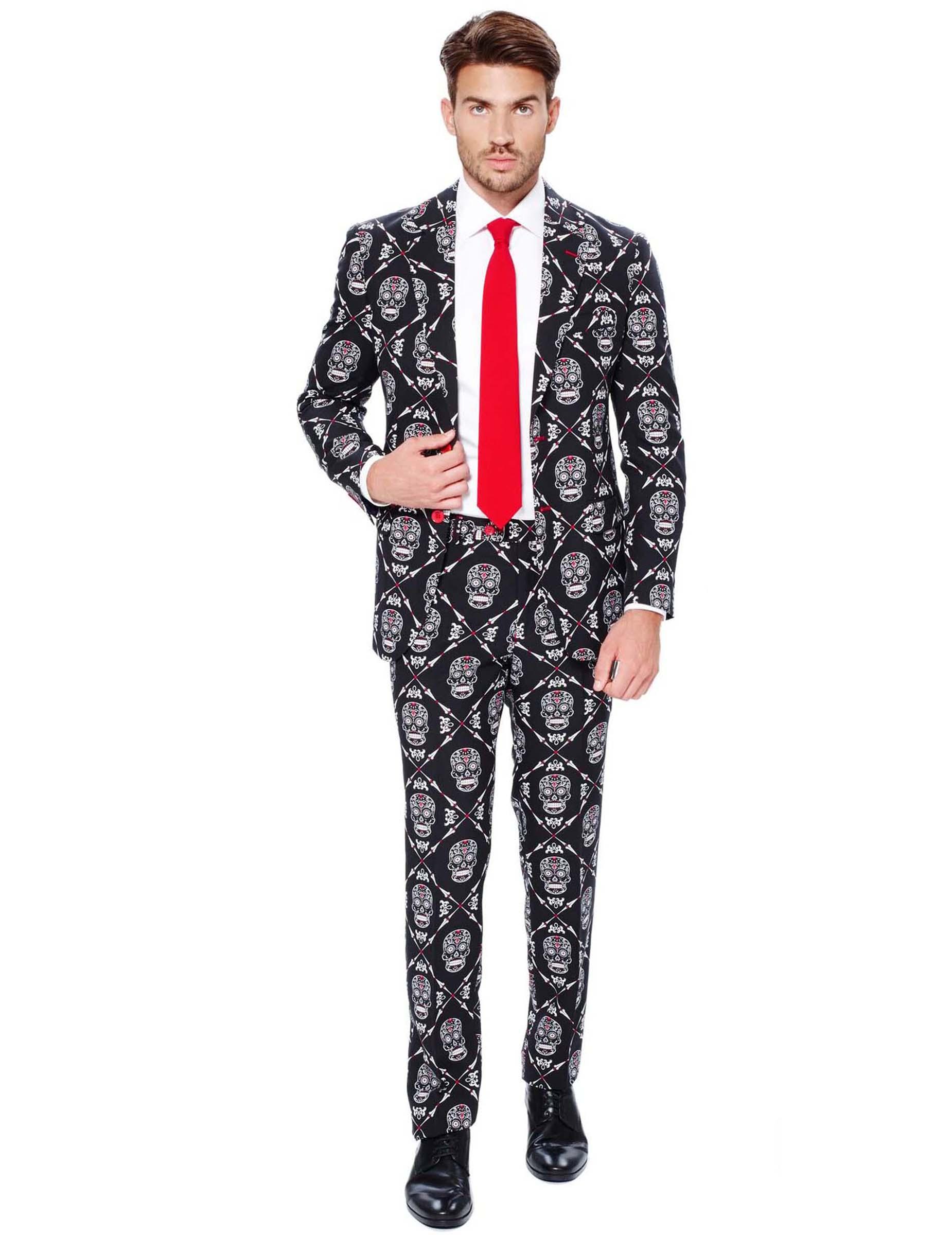 Traje Mr. Skeleton hombre Opposuits™ Día de los Muertos  Disfraces ... 0c95d8bbed9