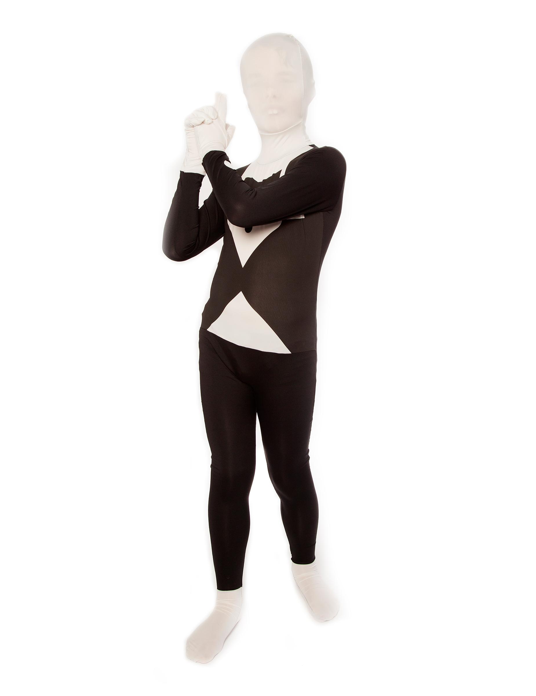Disfraz Morphsuits™ traje negro y blanco niño  Disfraces niños 4ddf994366d