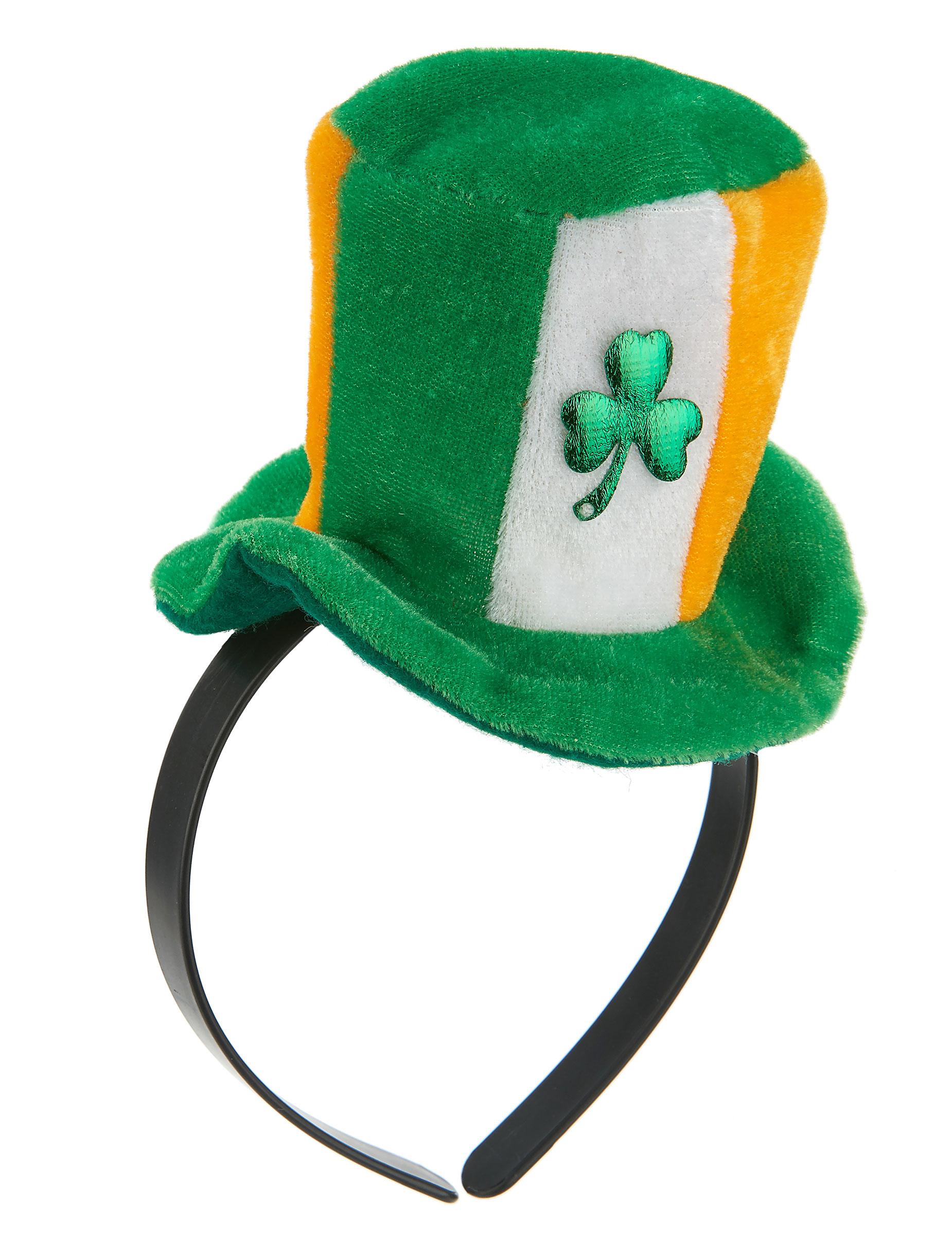 Diadema mini sombrero irlandés con trébol adulto  Accesorios 99daa4c3ee76