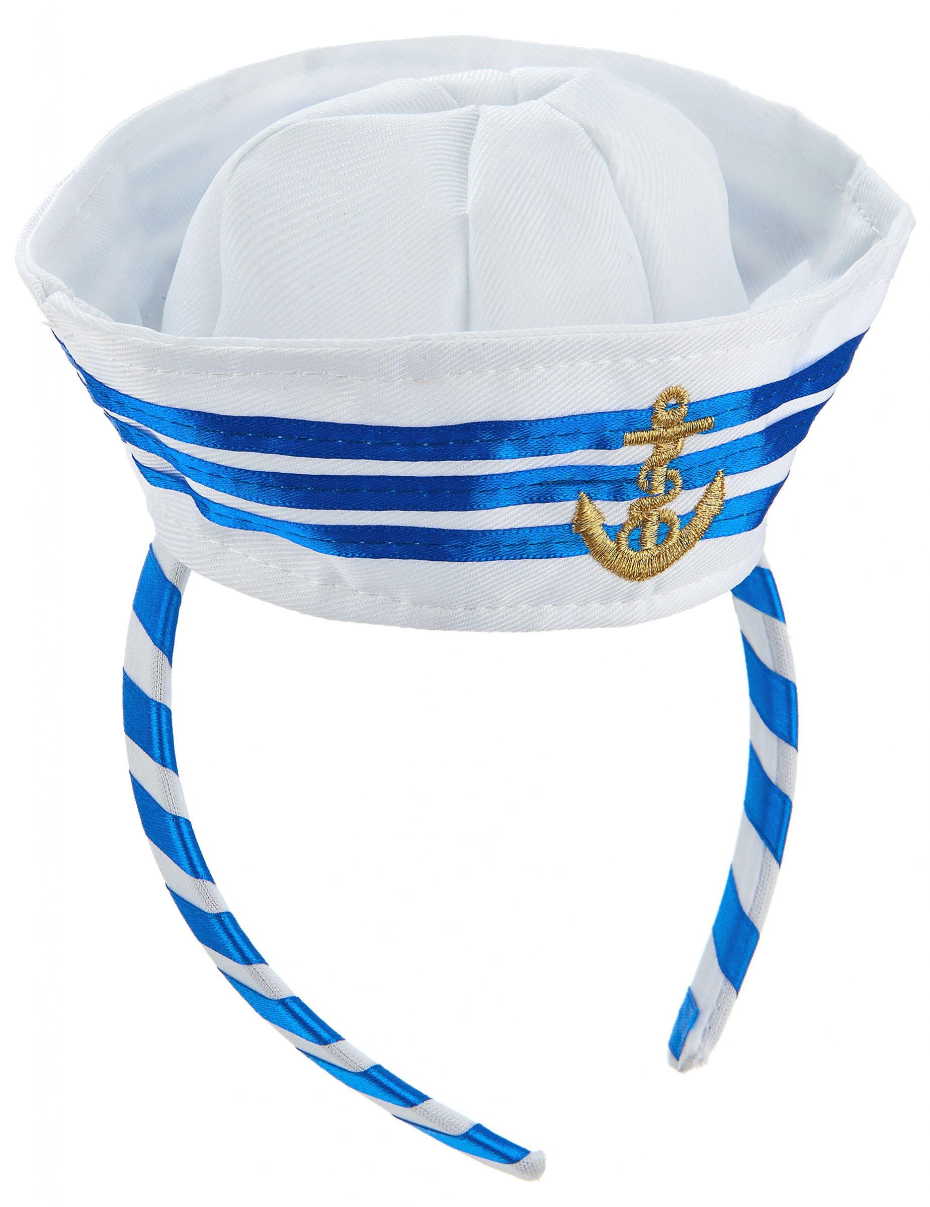 Diadema mini sombrero marinero adulto  Accesorios c1fa1013dc5