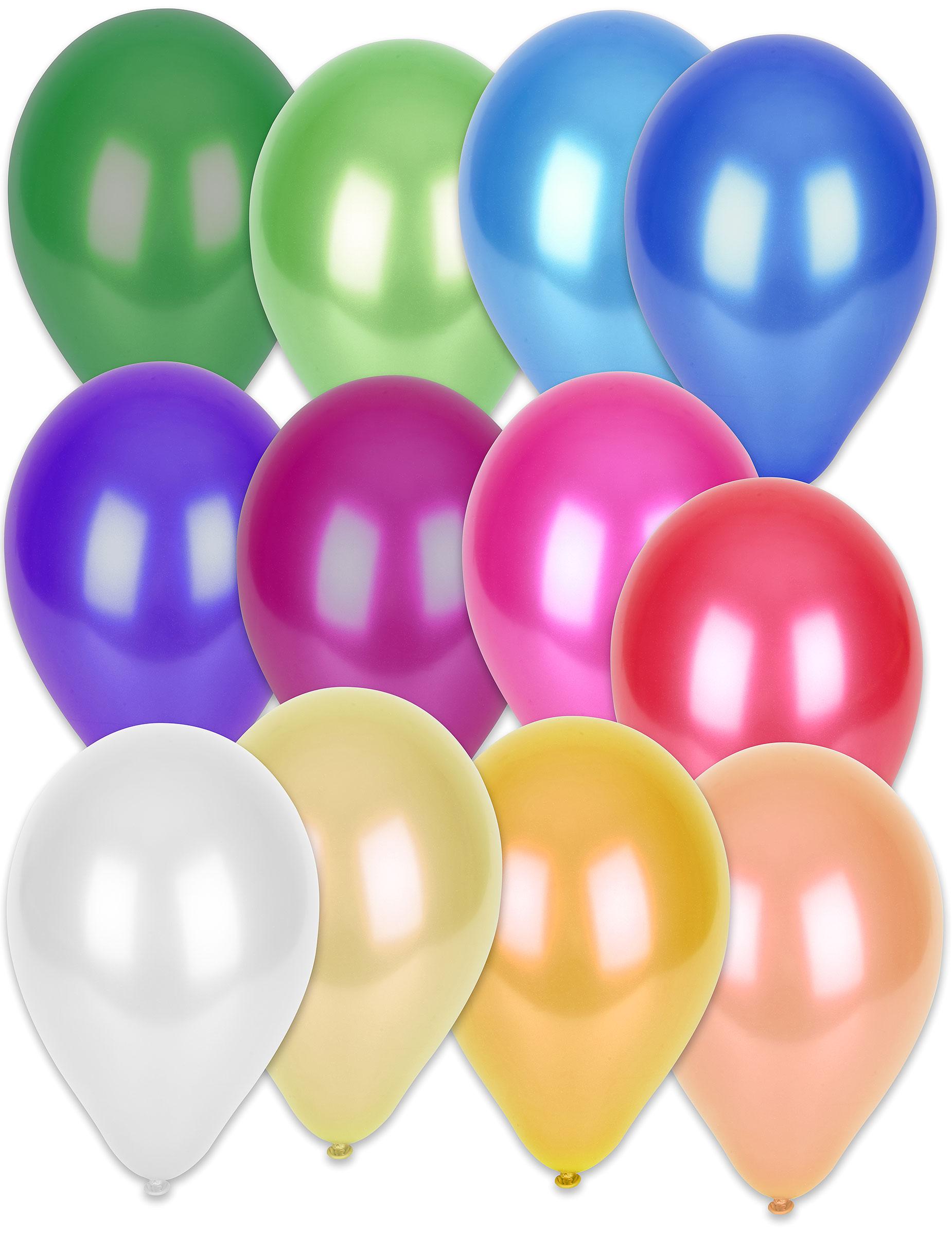 50 Globos metalizados varios colores: Decoración,y disfraces ...