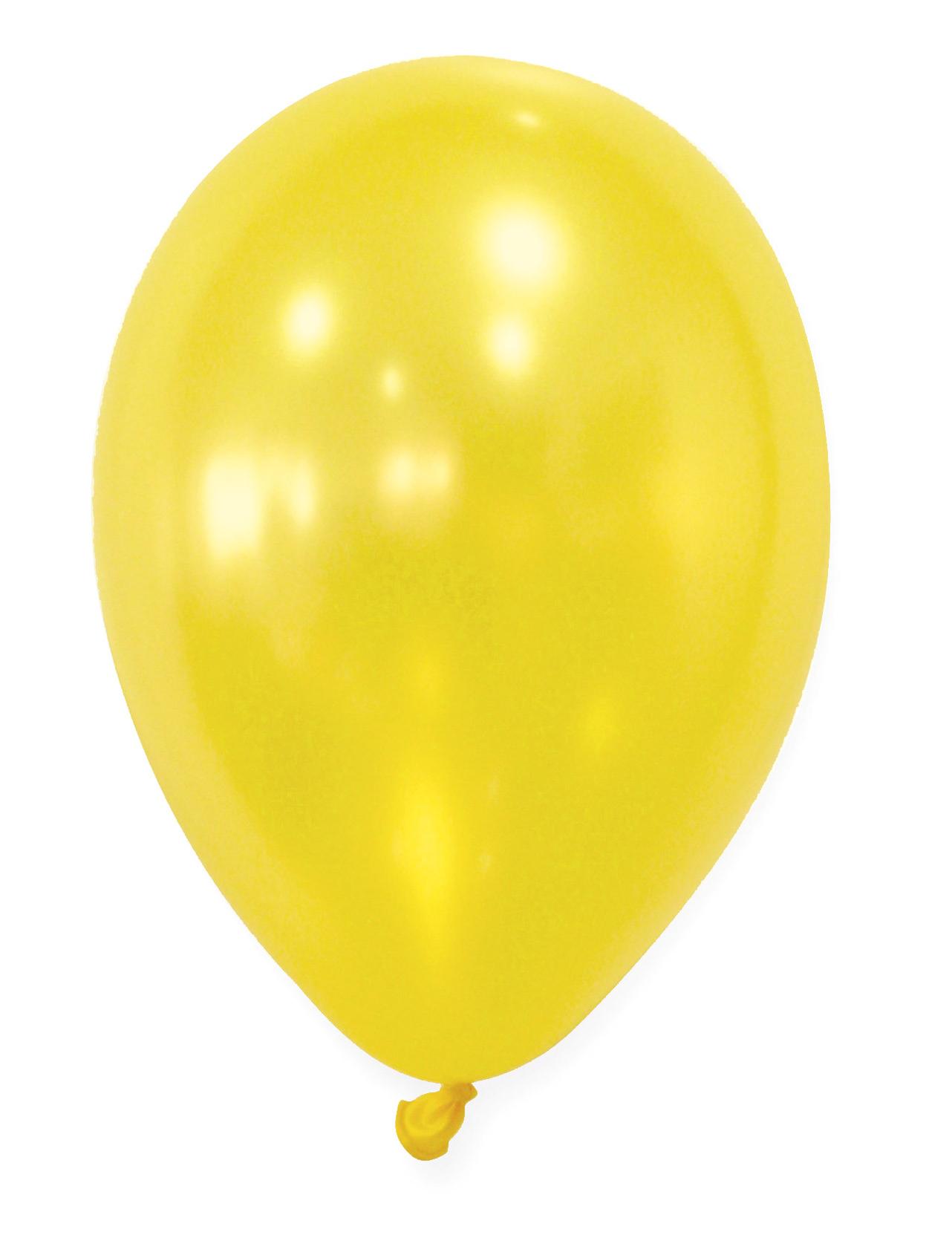 50 globos amarillos met licos decoraci n y disfraces - Adornos globos economicos ...